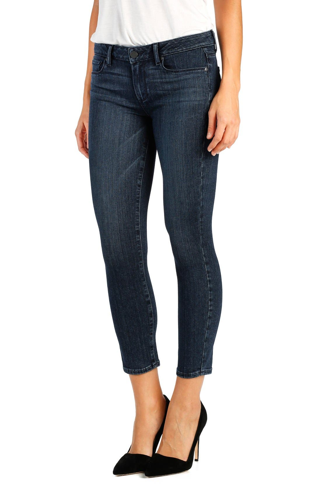 Alternate Image 1 Selected - PAIGE 'Transcend - Verdugo' Crop Skinny Jeans (Shelby)