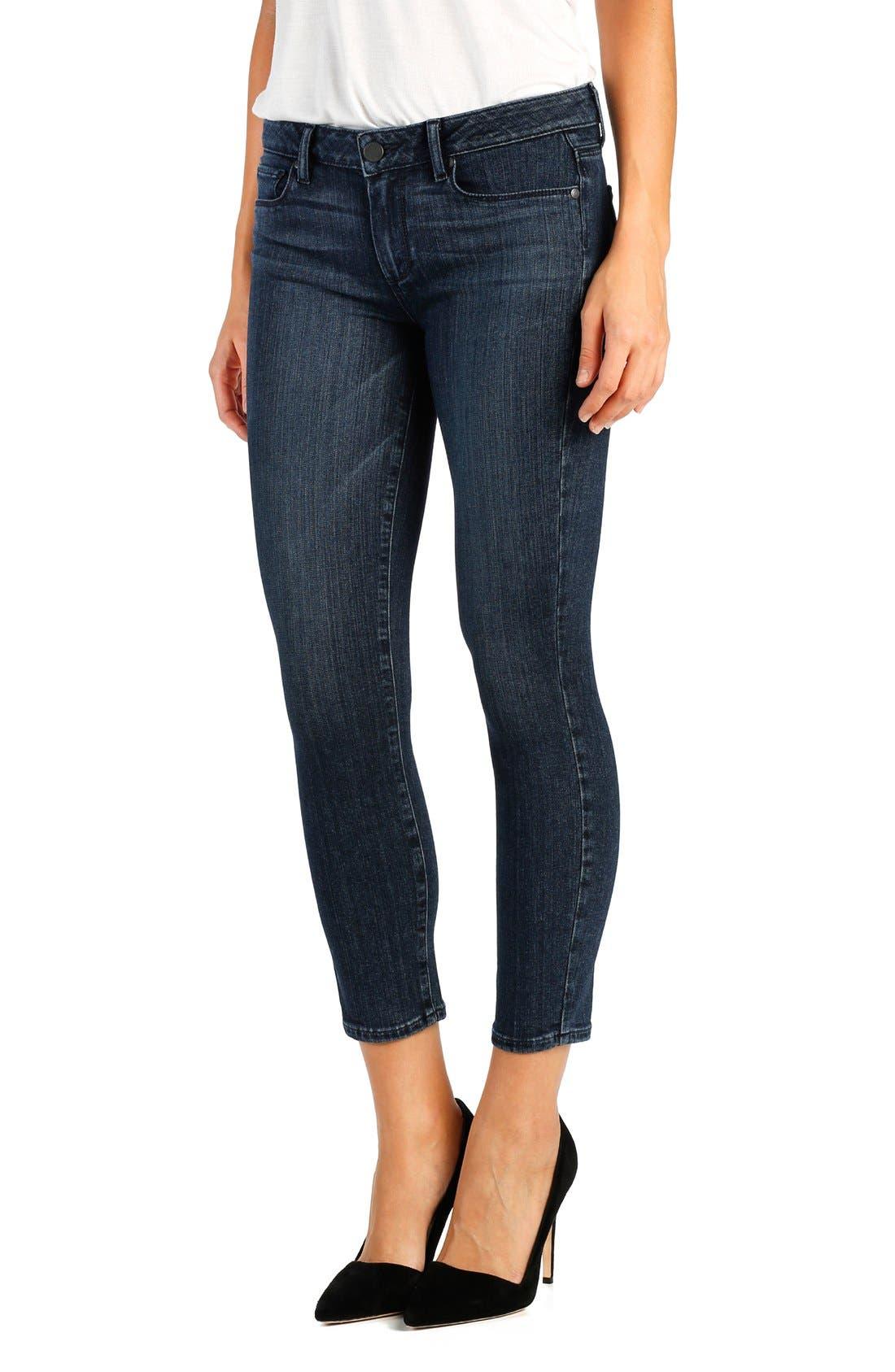 Main Image - PAIGE 'Transcend - Verdugo' Crop Skinny Jeans (Shelby)