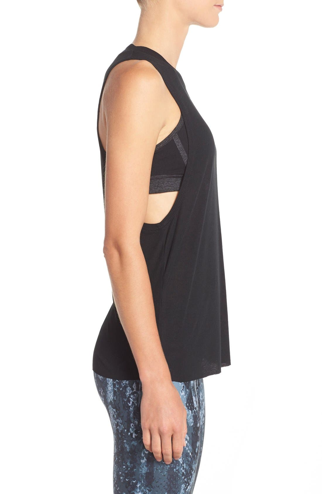 Alternate Image 3  - Alo Heat Wave Ribbed Muscle Tee