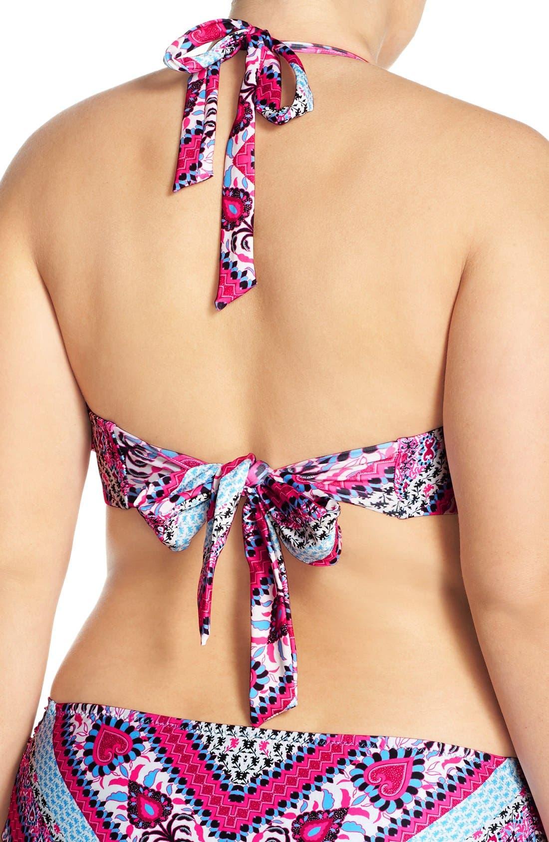 Alternate Image 2  - Becca Etc. 'Secret Garden' Halter Bikini Top (Plus Size)