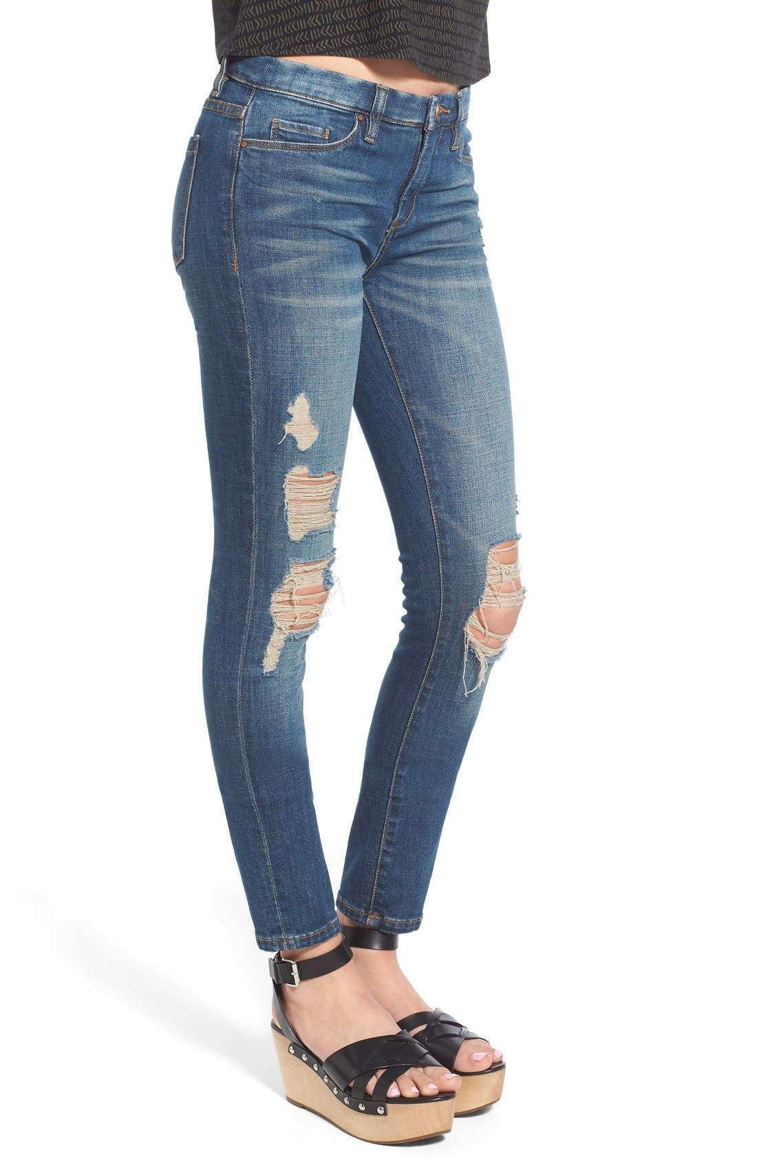 Alternate Image 3  - BLANKNYC Distressed Skinny Jeans