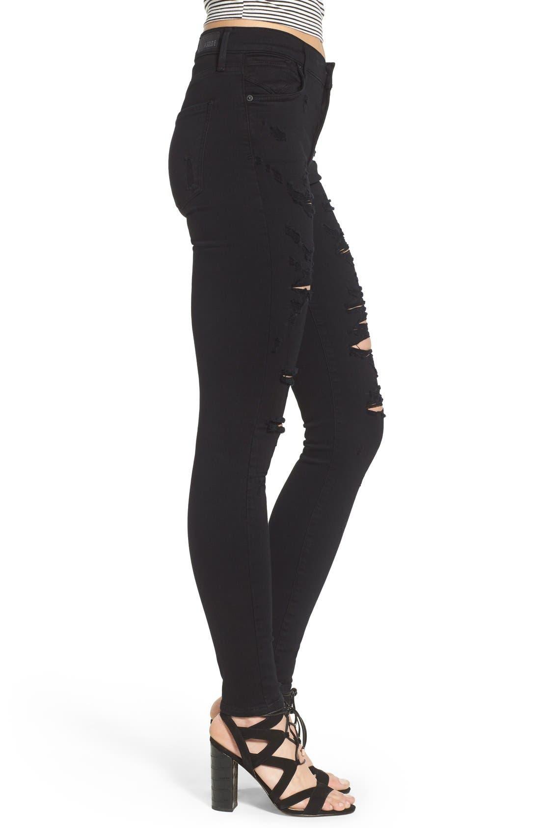 Alternate Image 3  - AGOLDE Sophie High Waist Skinny Jeans (Moon Struck)