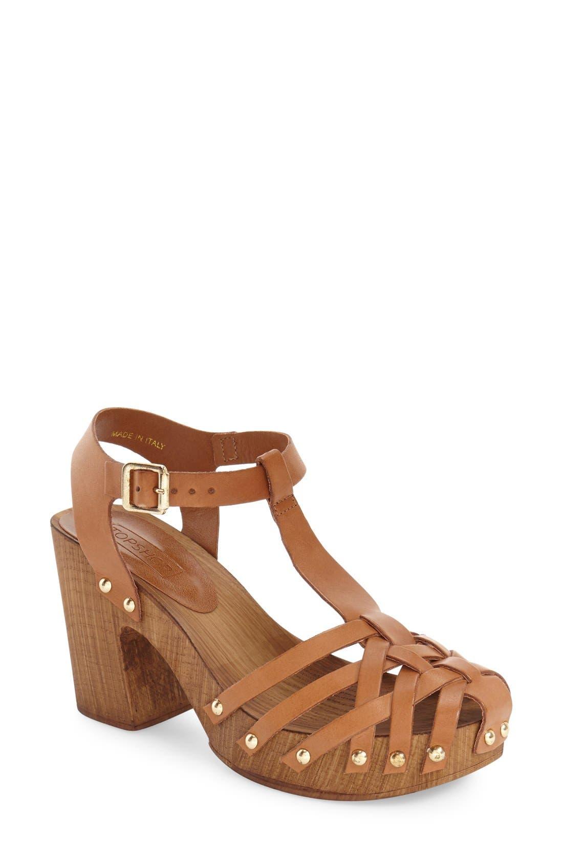 Alternate Image 1 Selected - Topshop 'Venice' Platform Sandal (Women)