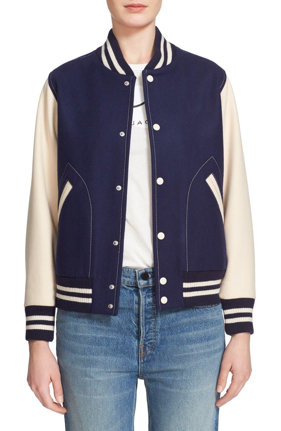 Main Image - MARC JACOBS Shrunken Varsity Jacket