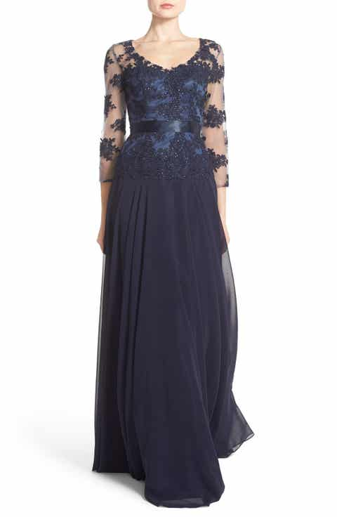 JS Collections Embellished Mock Two-Piece Gown