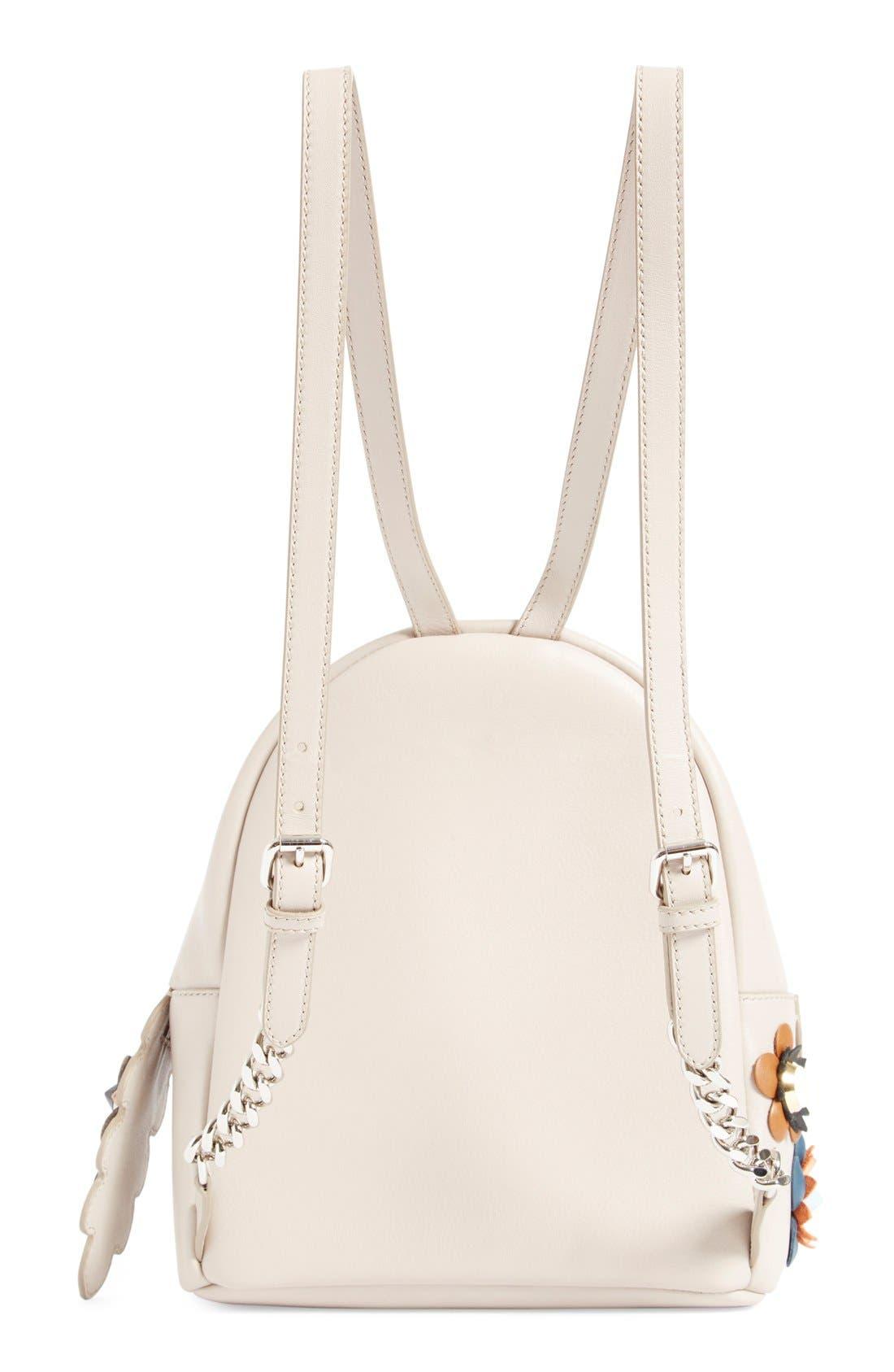 Alternate Image 2  - Fendi Floral Appliqué Leather Mini Backpack
