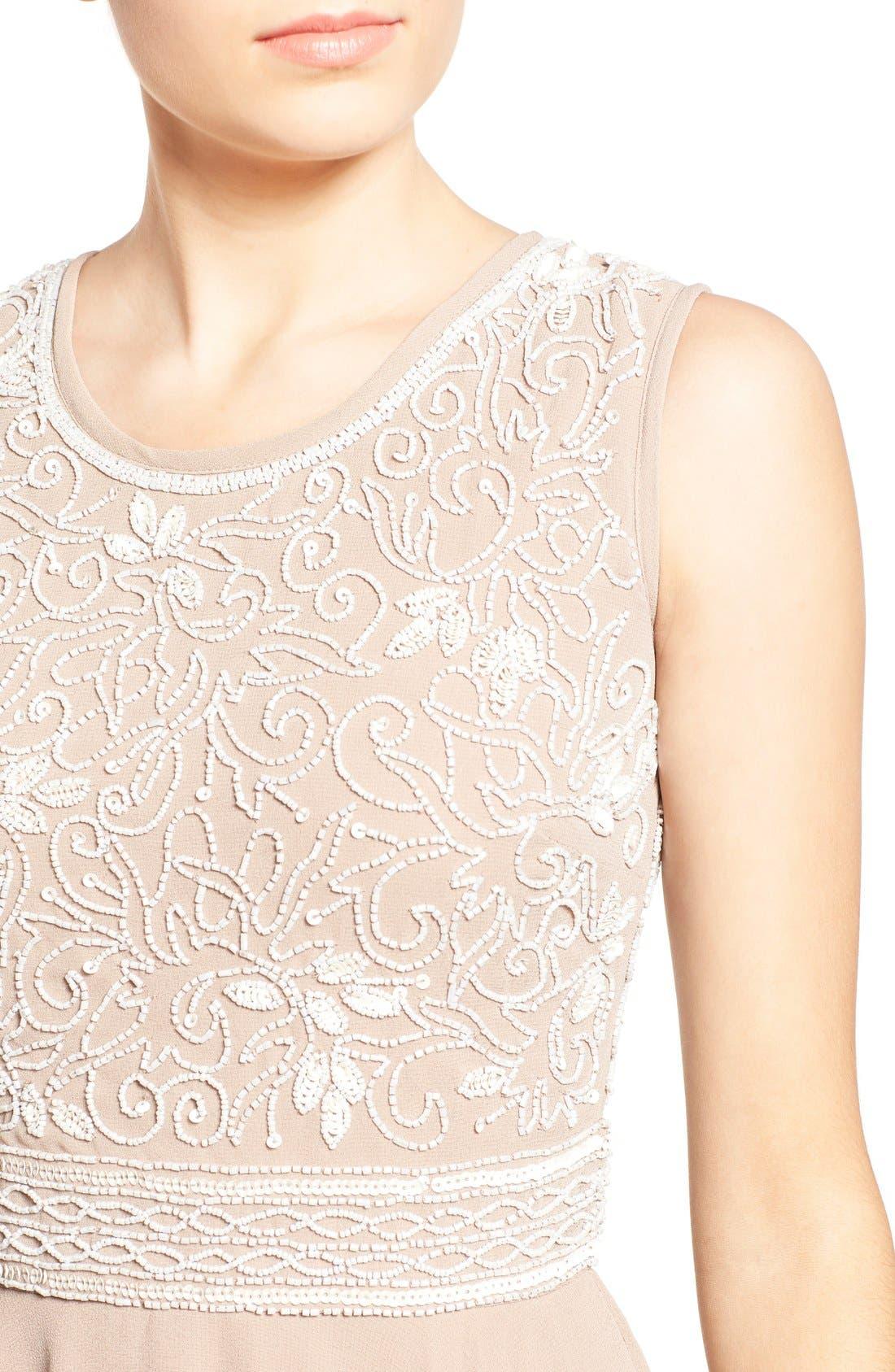 Alternate Image 4  - Lace & Beads 'Lola' Embellished Skater Dress