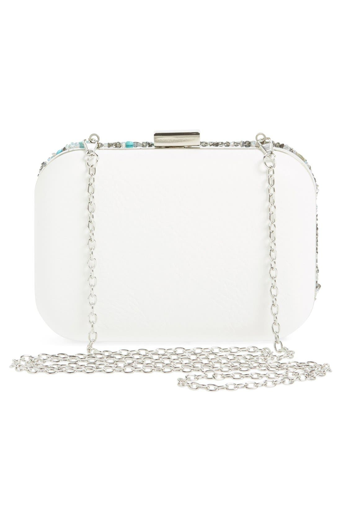 Alternate Image 3  - Natasha Couture Stone & Crystal Clutch