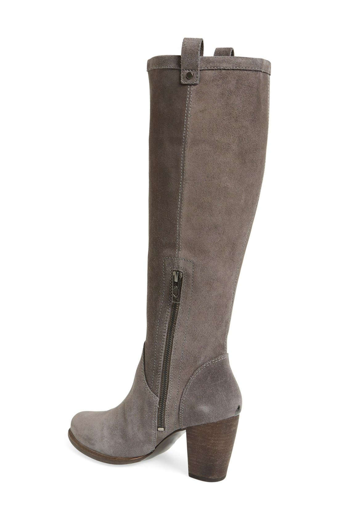 Alternate Image 2  - UGG® 'Ava' Tall Water Resistant Suede Boot (Women)