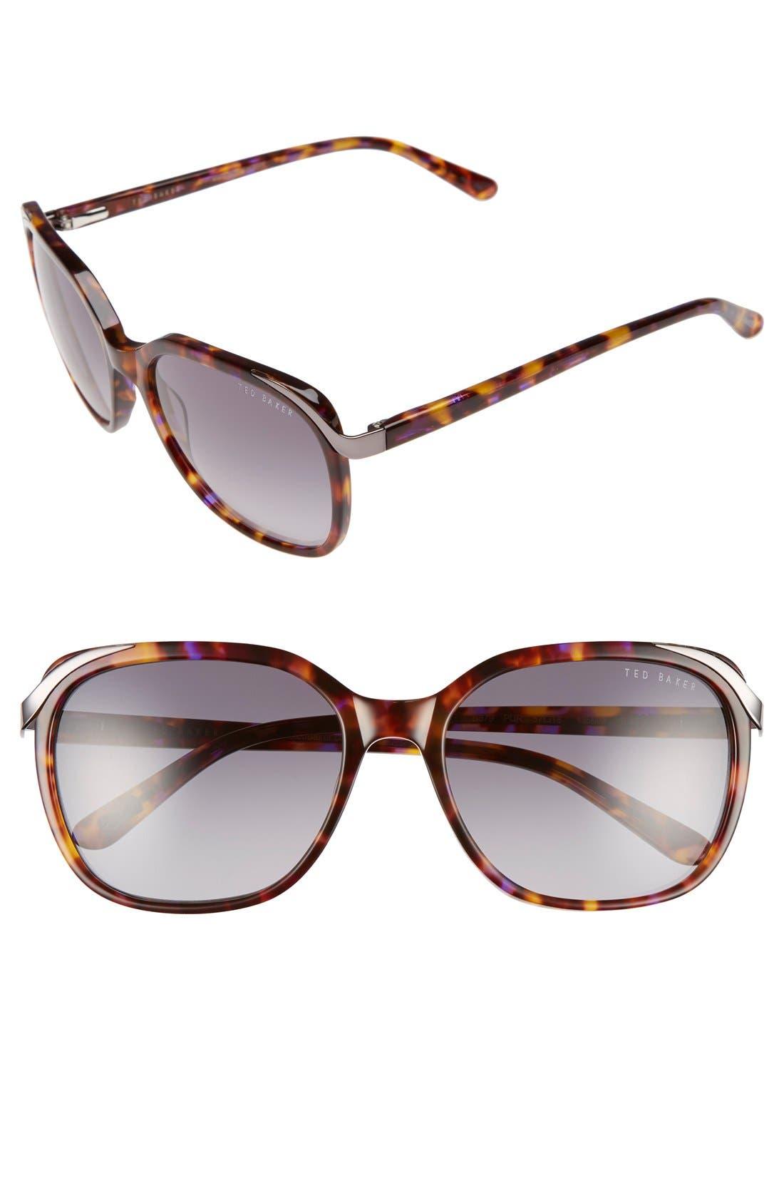 TED BAKER LONDON 57mm Oversized Sunglasses