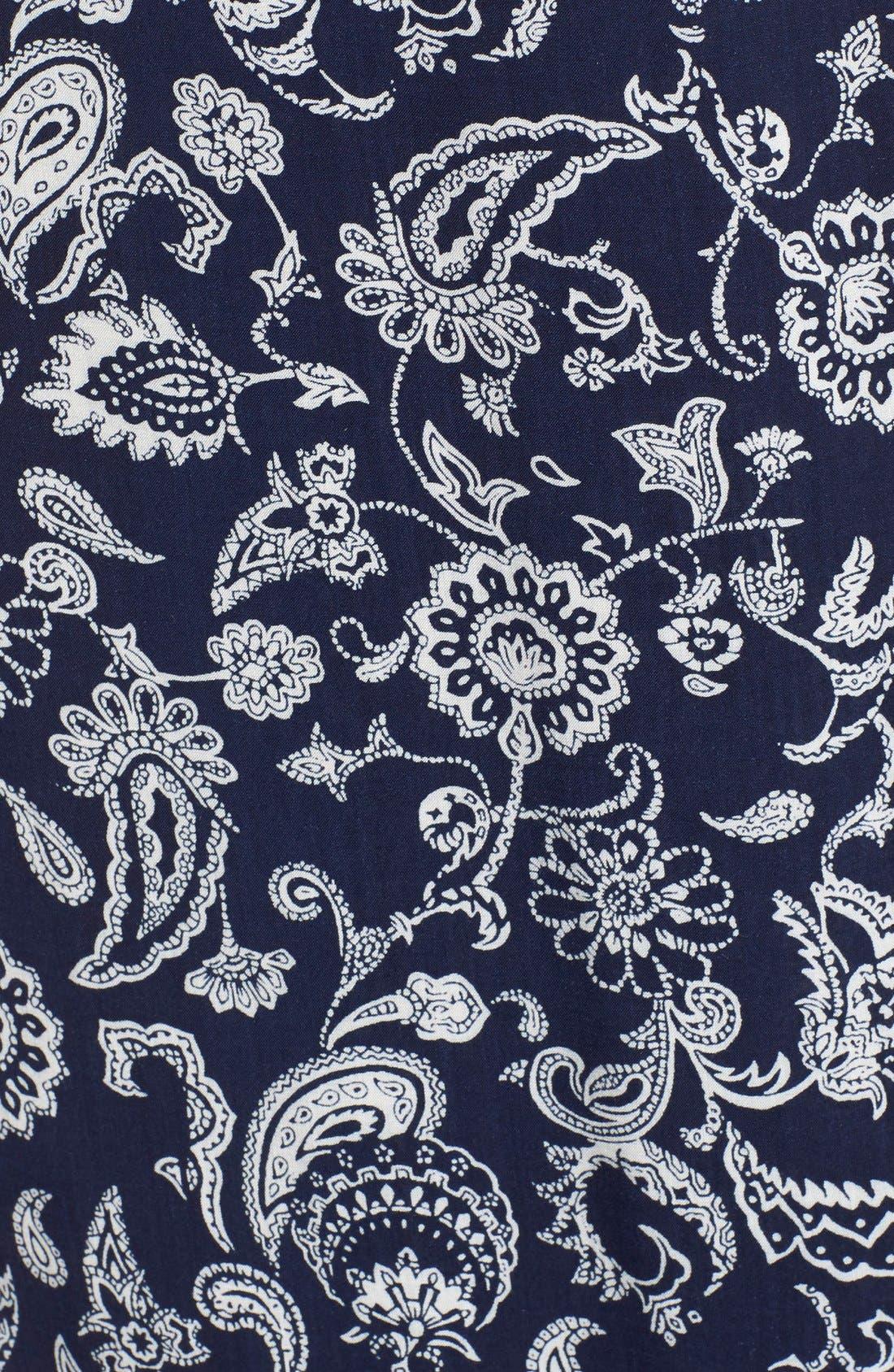 Alternate Image 5  - PAIGE 'Regina' Print Maxi Surplice Dress