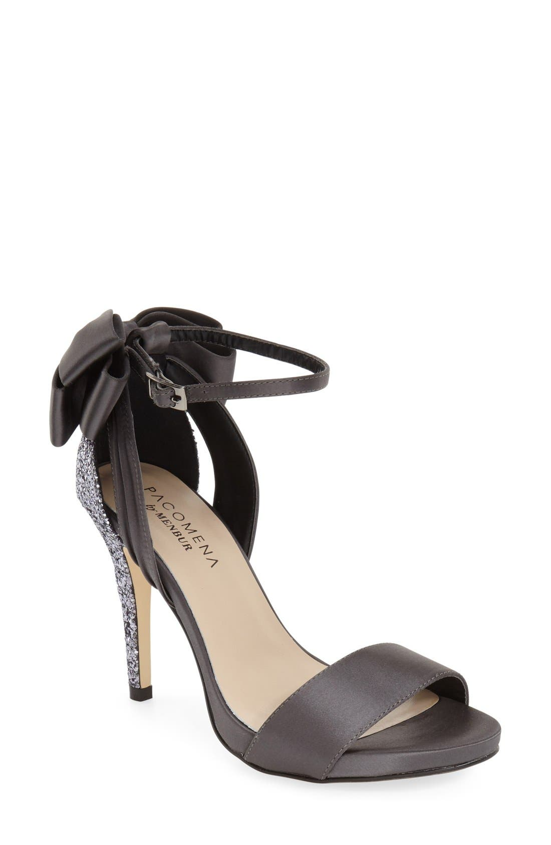 MENBUR 'Clarin' Bow Ankle Strap Sandal