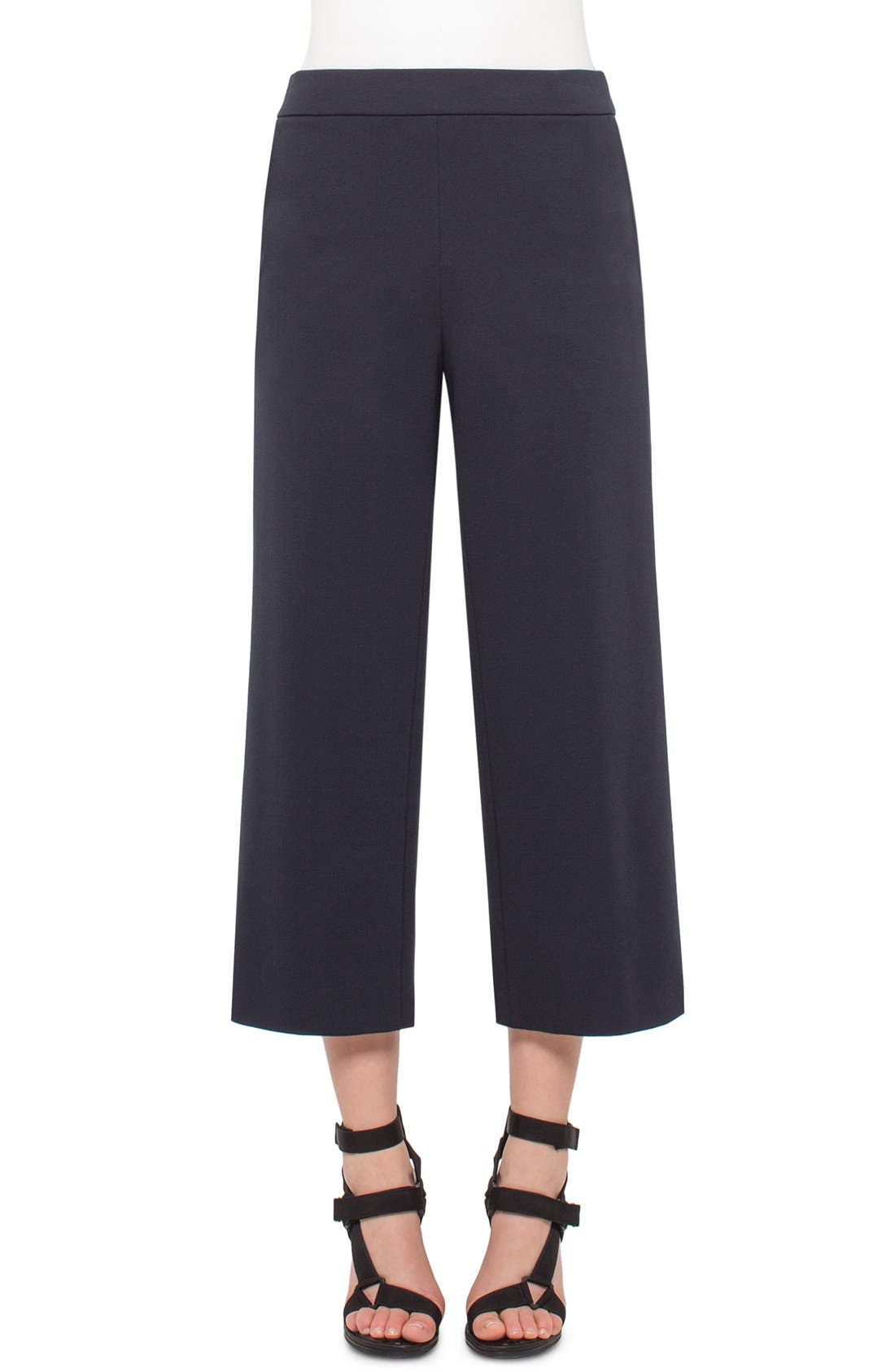 Main Image - Akris punto High Waisted Stretch Jersey Culottes