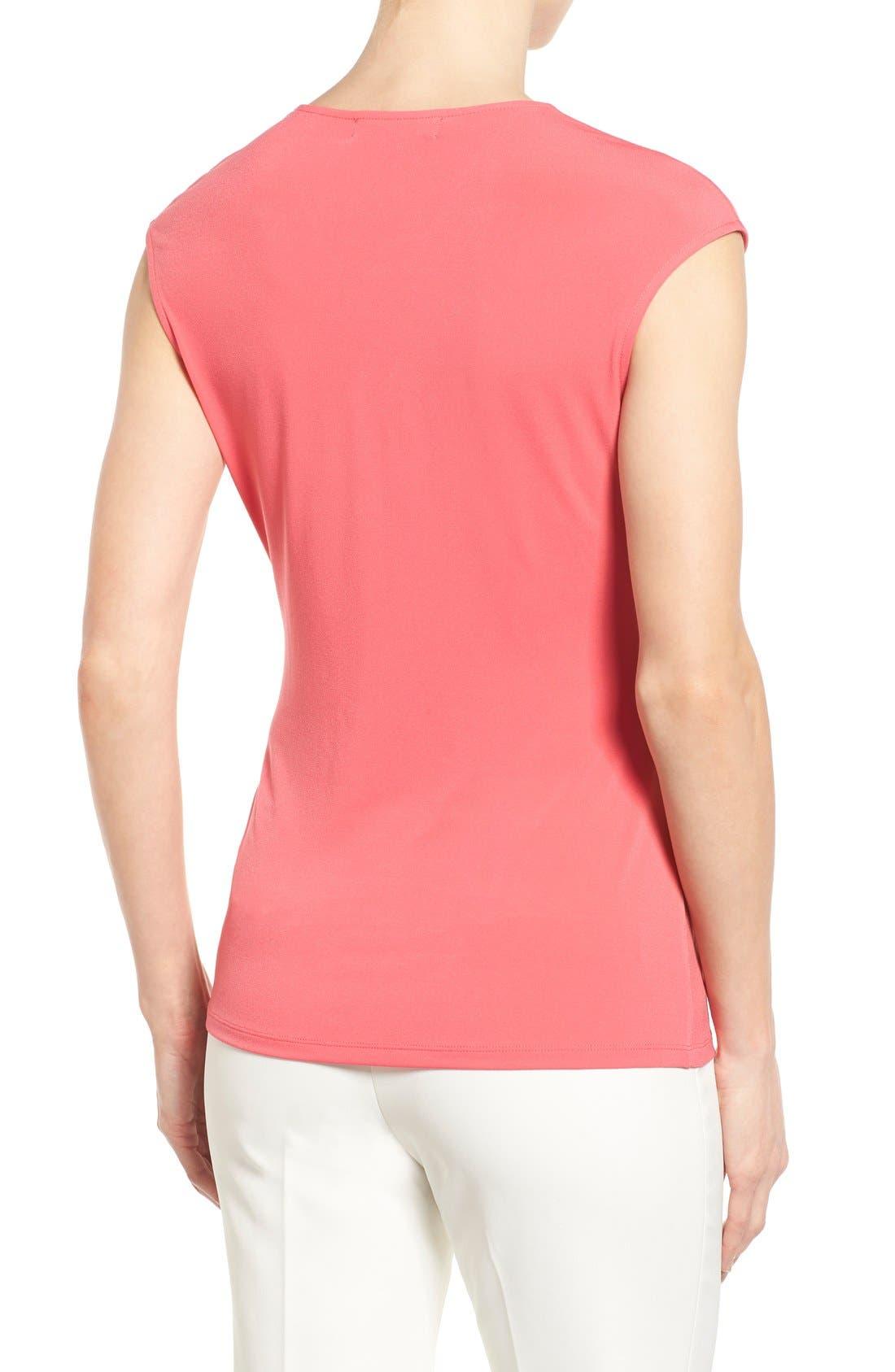 Alternate Image 2  - Ellen Tracy Side Twist Cap Sleeve Top