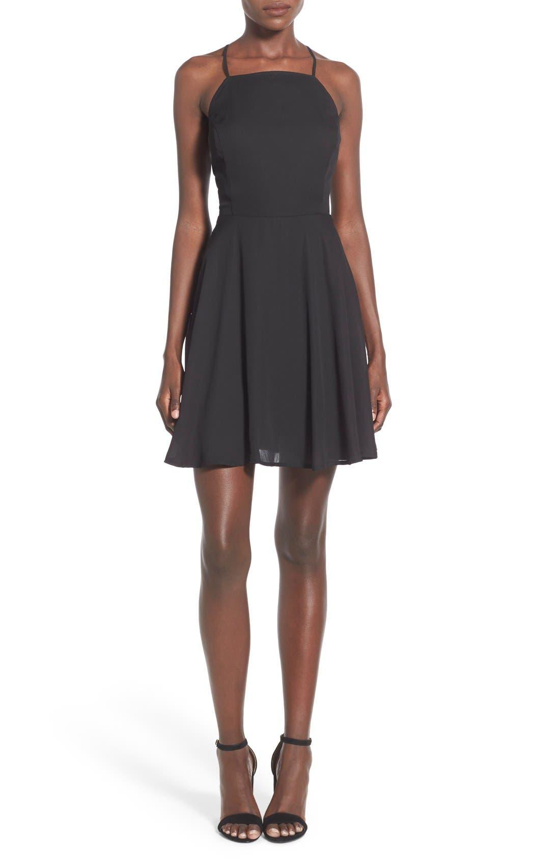Main Image - BP. Strappy Back Skater Dress