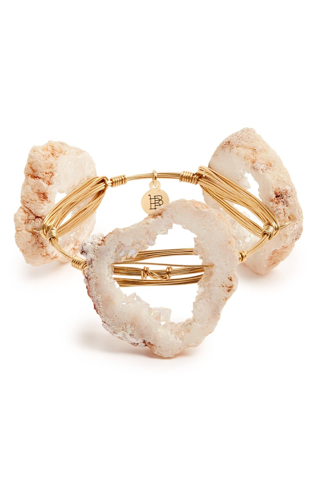 Alternate Image 1 Selected - Bourbon and Boweties Geode Stone Bangle