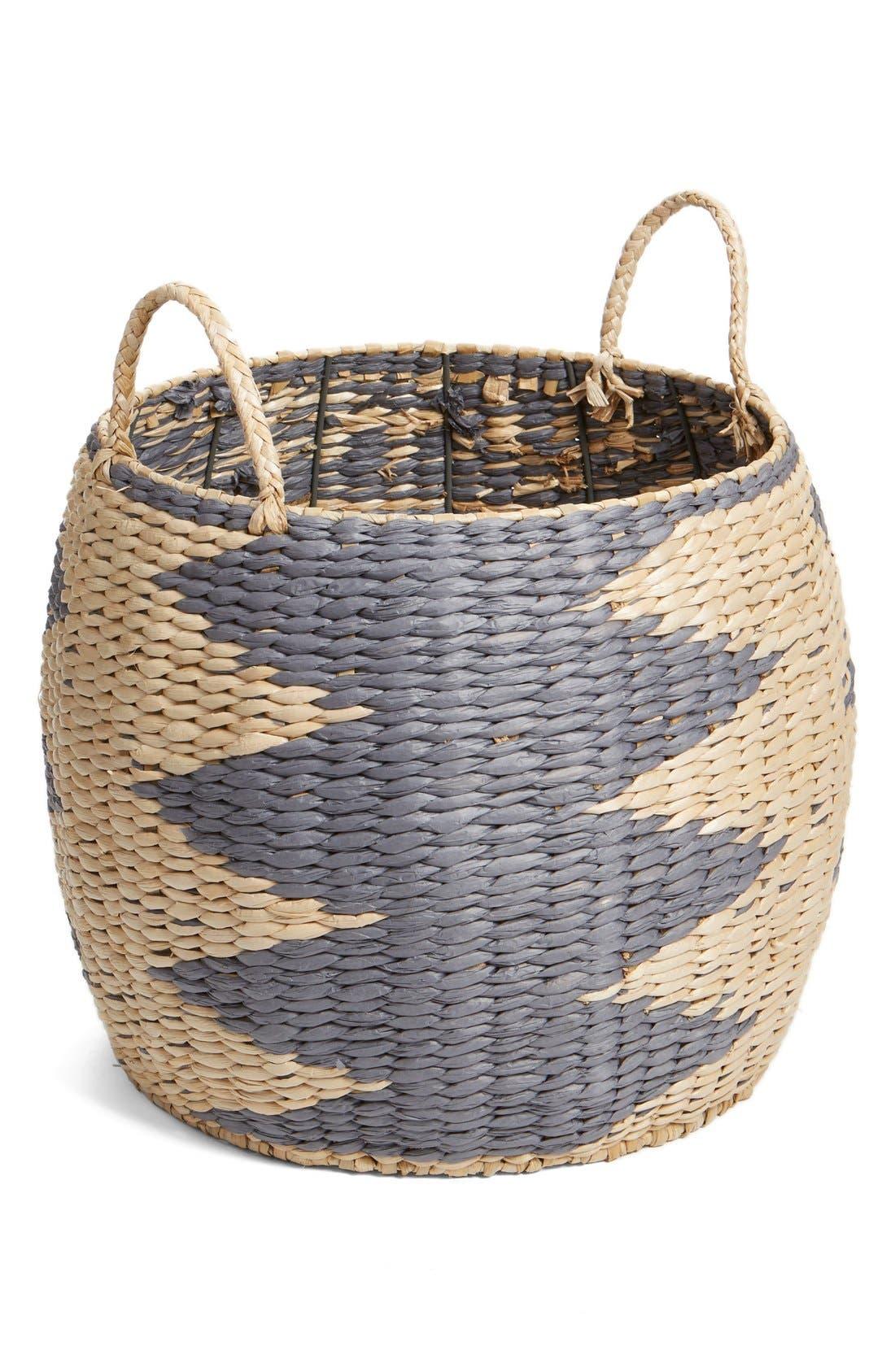 Alternate Image 1 Selected - Levtex Chevron Woven Basket