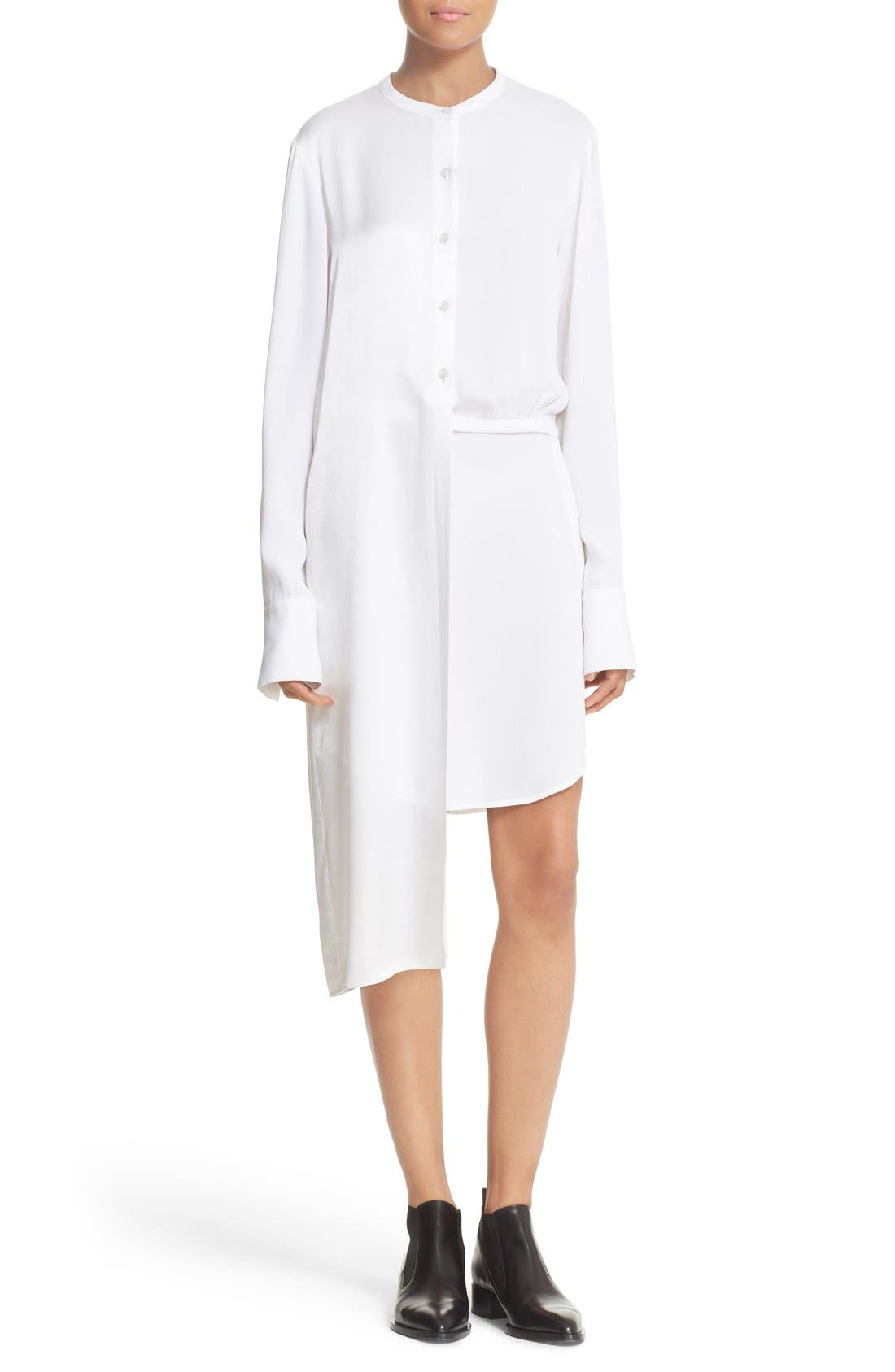 Alternate Image 1 Selected - DKNY Panel Overlay Woven Shirtdress