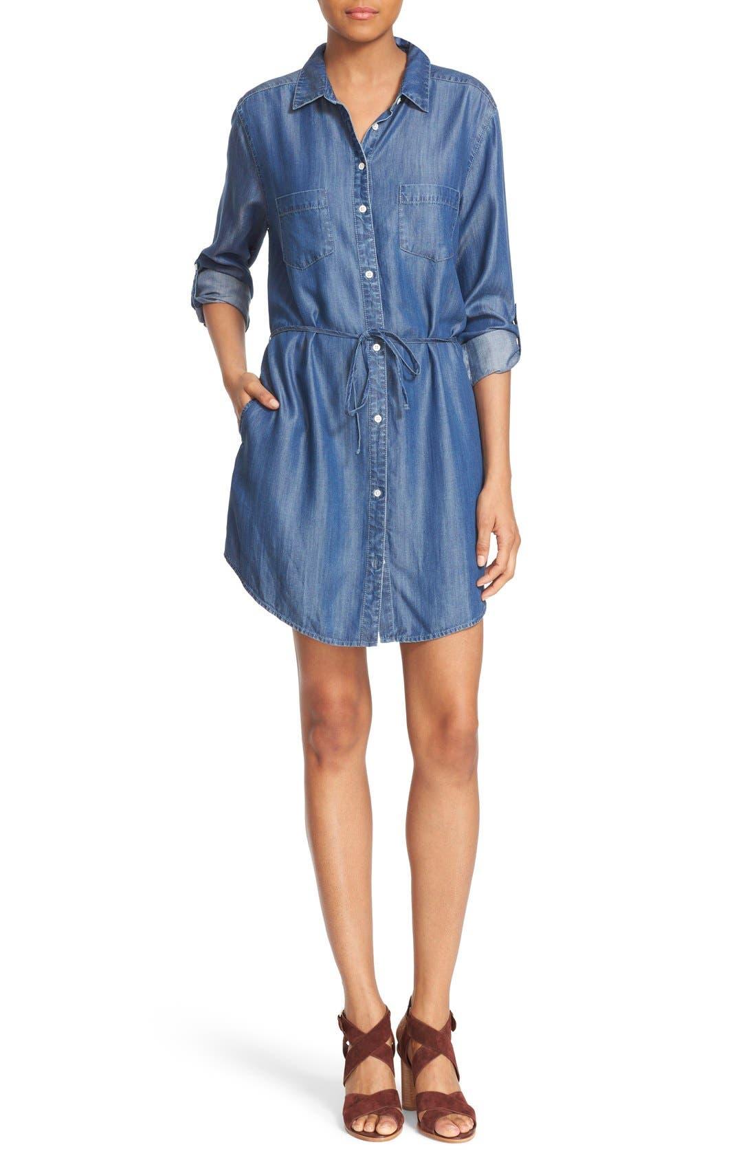 Main Image - Soft Joie 'Lilyana' Roll Sleeve Shirtdress