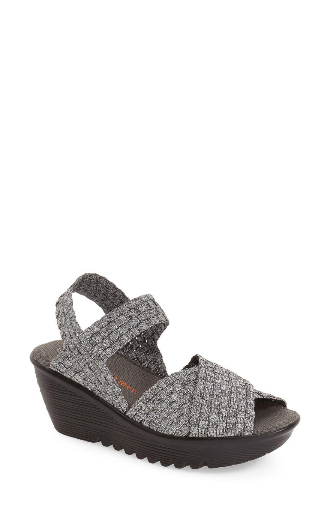 BERNIE MEV. 'Buttercup' Woven Platform Wedge Sandal