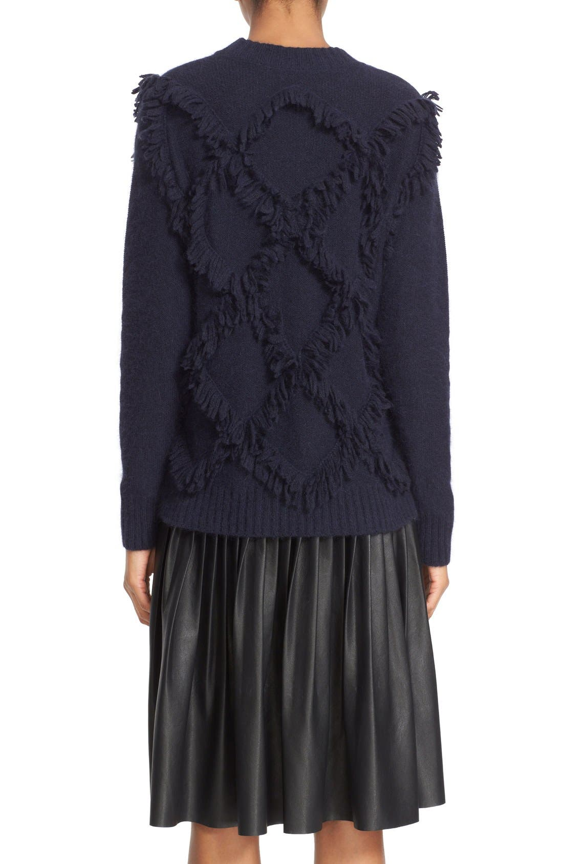 Alternate Image 2  - Rebecca Taylor Fringe Pullover Sweater