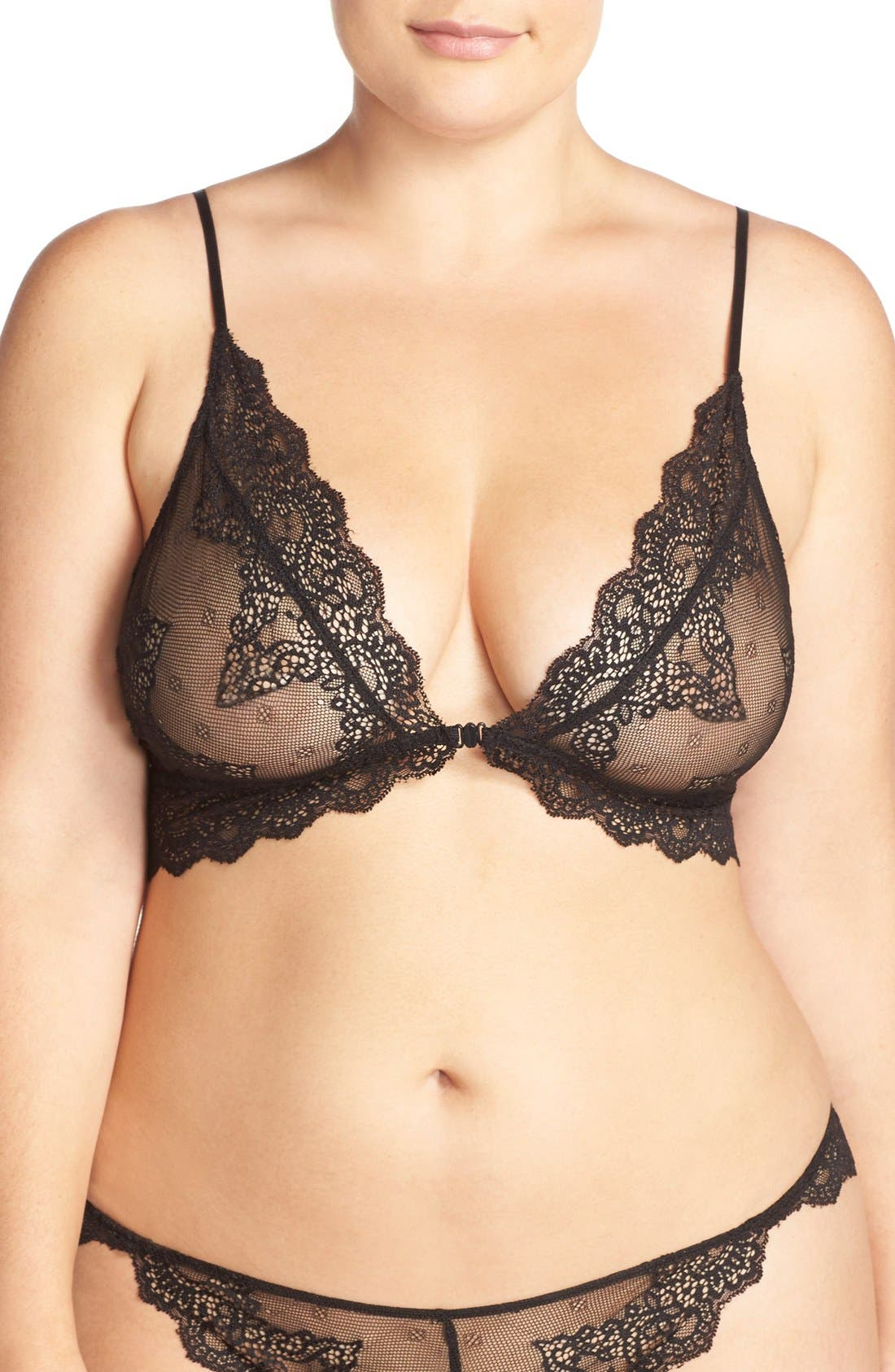 Only Hearts So Fine Lace Bralette Plus Size Nordstrom