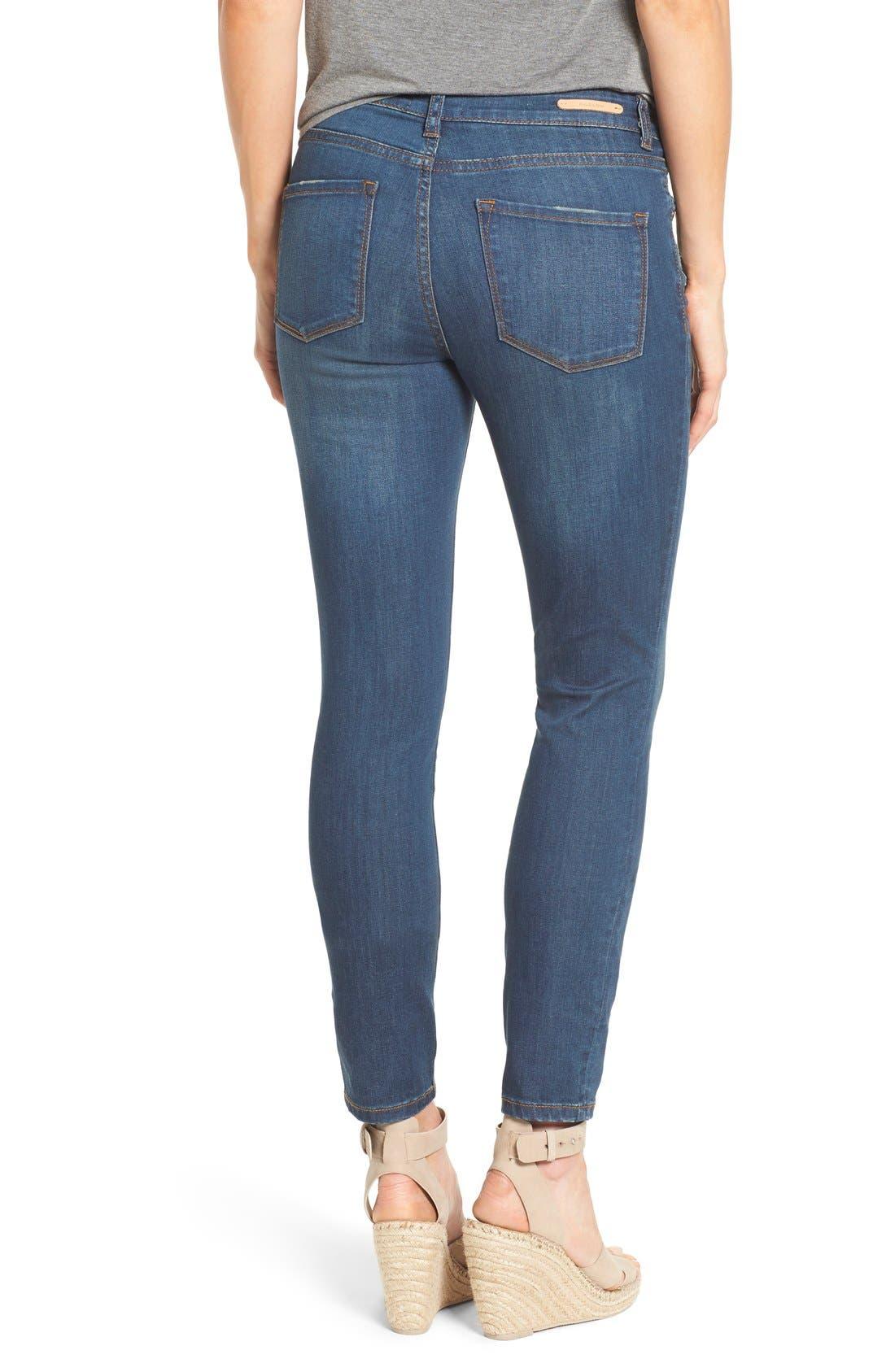 Alternate Image 2  - Caslon® Stretch Skinny Ankle Jeans (Midnight) (Regular & Petite)