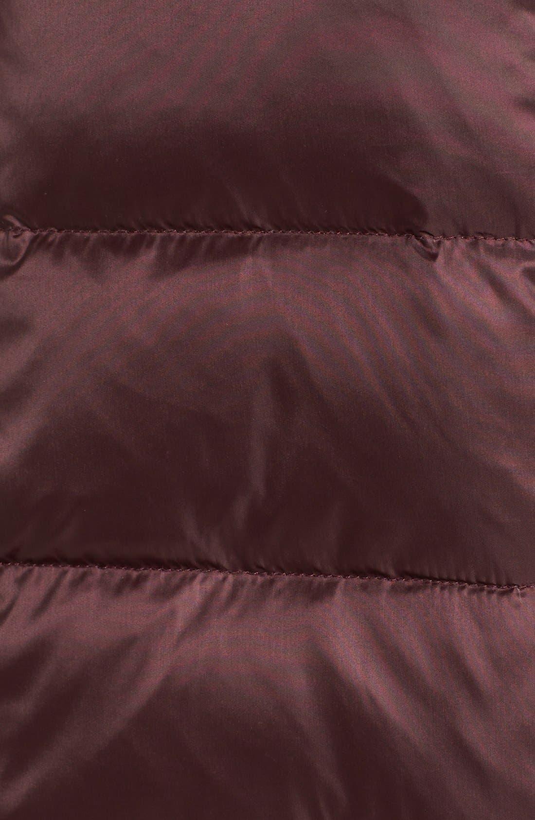 Alternate Image 5  - 1 Madison Mixed Media Faux Fur Trim Hooded Down Coat