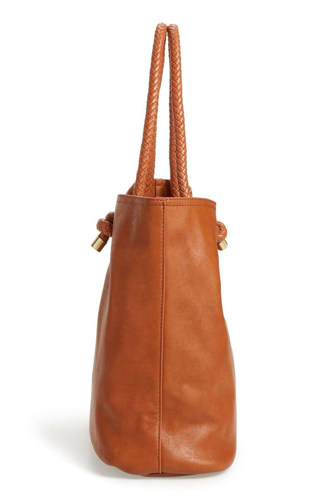 Alternate Image 5  - Sole Society Braided Handle Faux Leather Tote