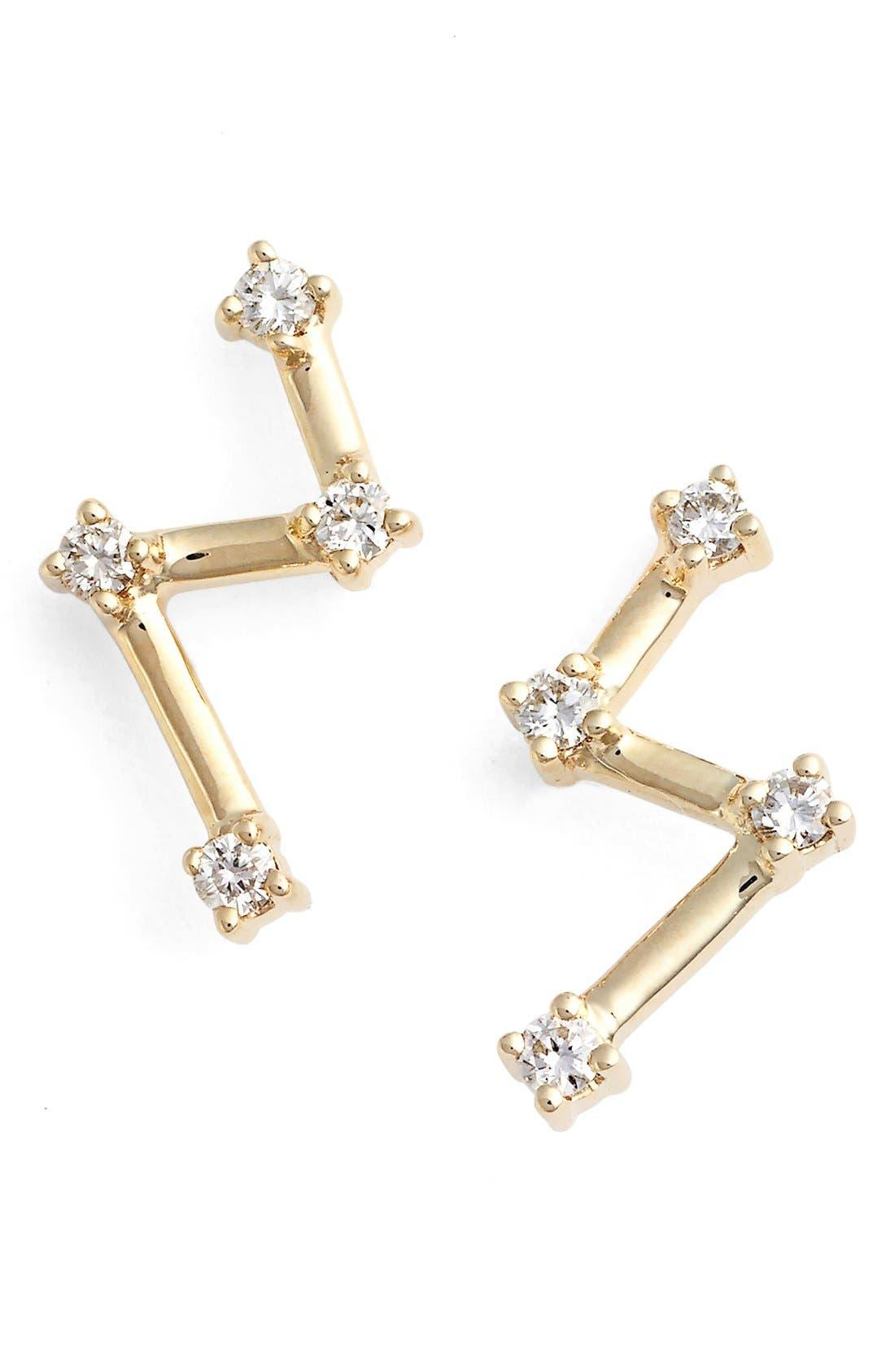 Alternate Image 1 Selected - Dana Rebecca Designs 'Jenna Morgan Zig Zag' Diamond Ear Crawlers