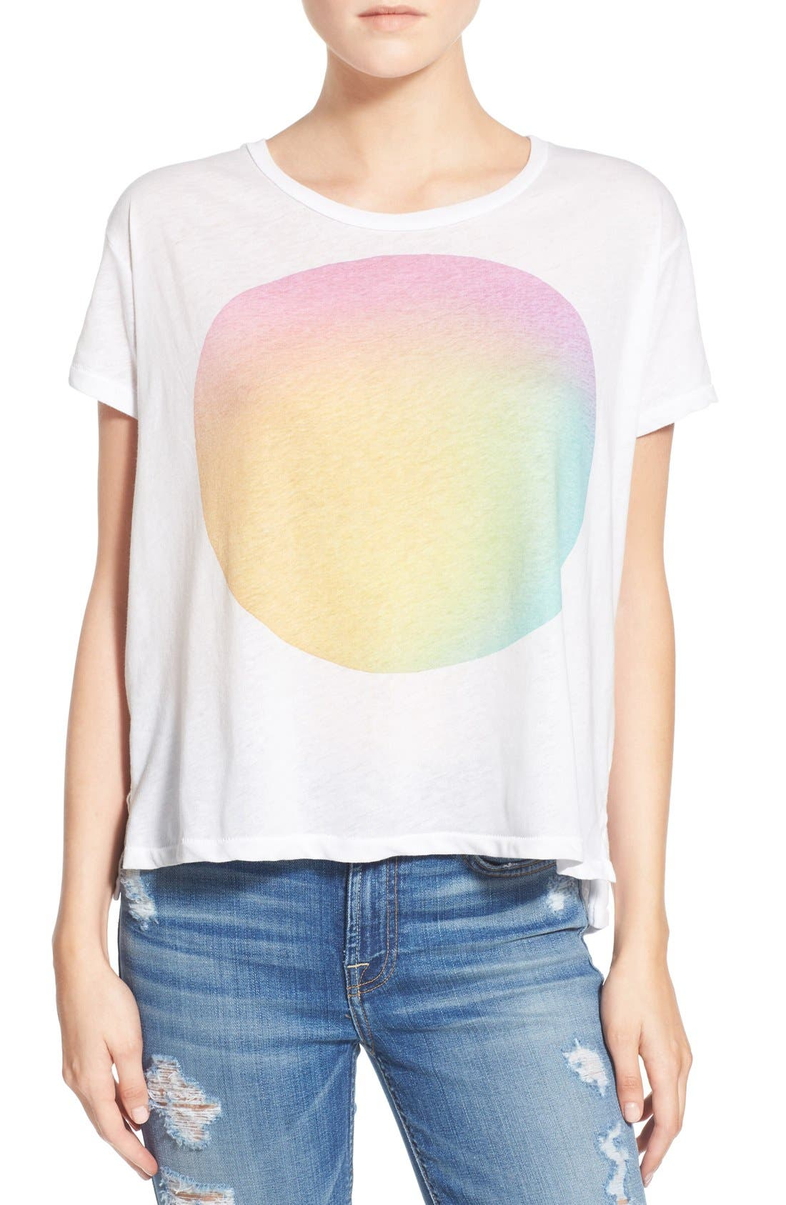 Alternate Image 1 Selected - Sundry 'Watercolor' Graphic Tee