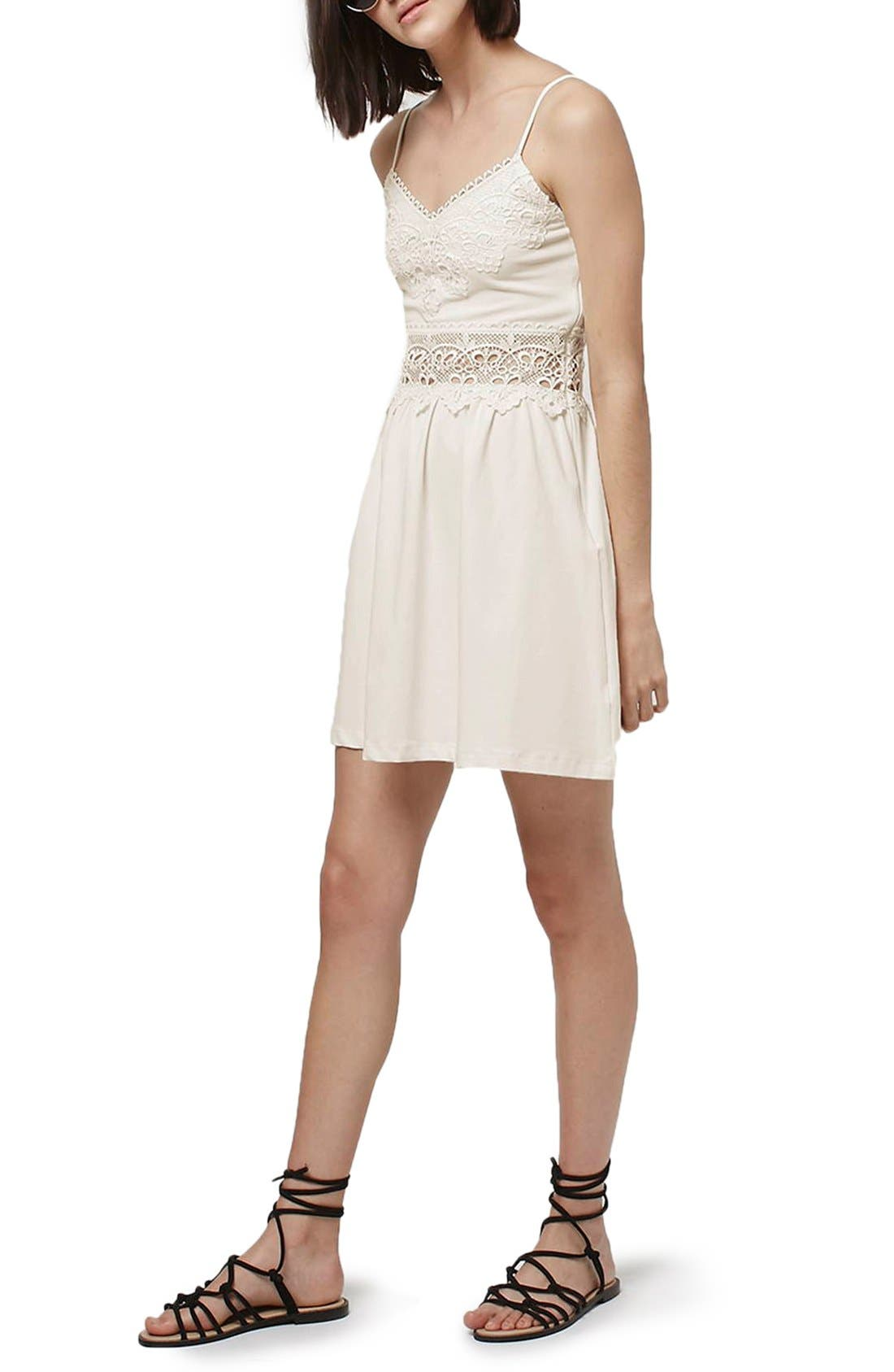 Alternate Image 1 Selected - Topshop Lace Inset Sundress