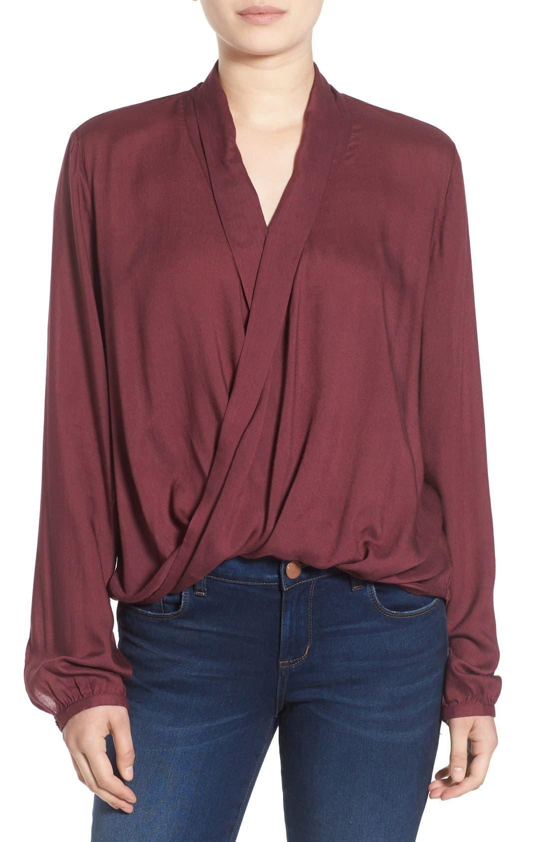 Main Image - BP. Cross Front Woven Blouse