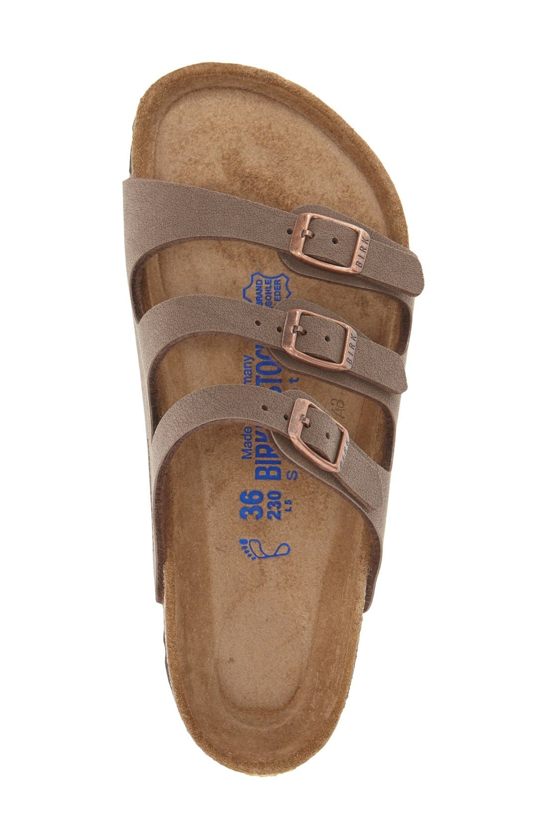 Alternate Image 3  - Birkenstock 'Florida Birkibuc' Soft Footbed Sandal (Women)