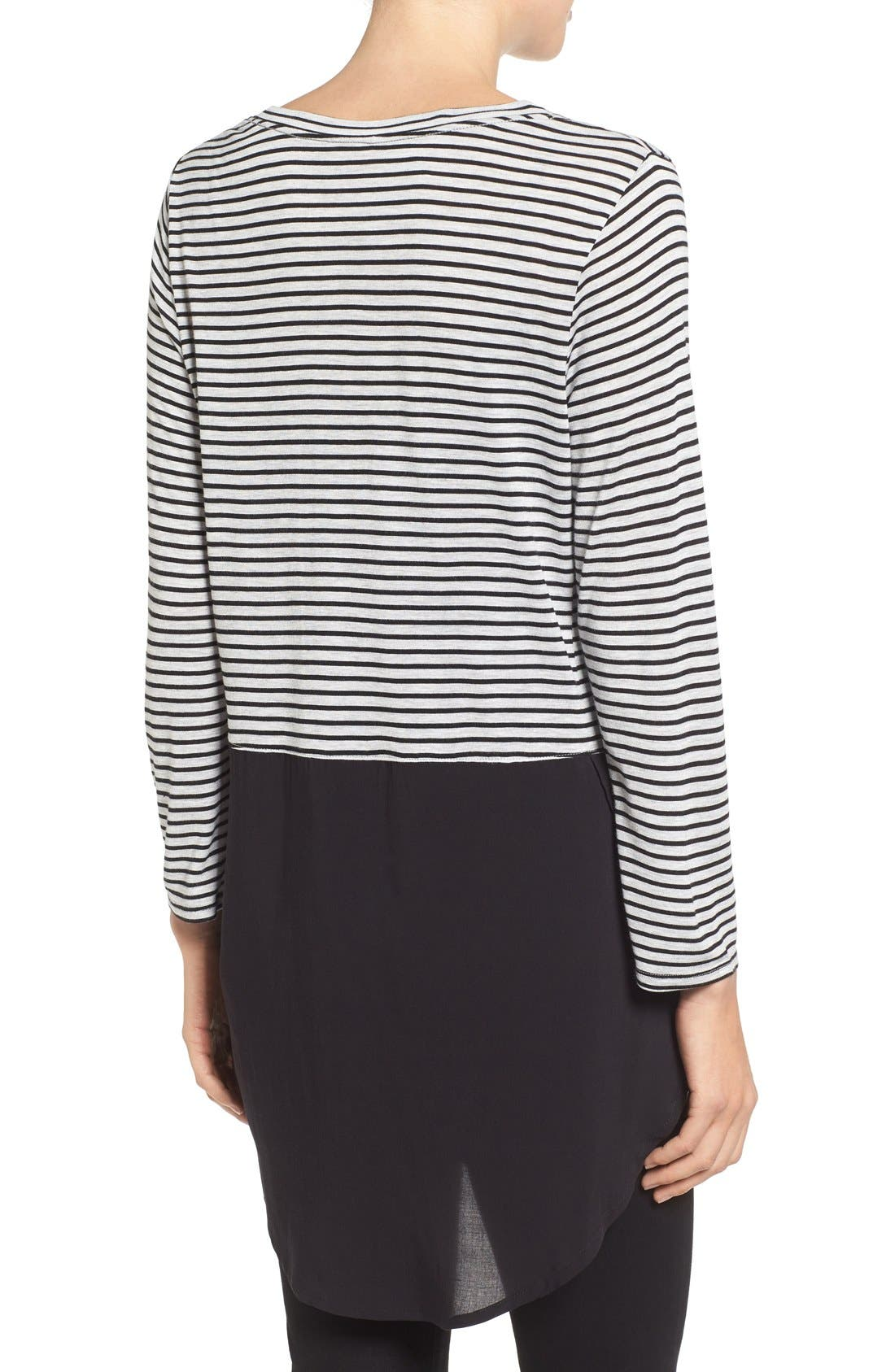 Alternate Image 2  - Two by Vince Camuto 'Anchor Stripe' Mixed Media Tunic
