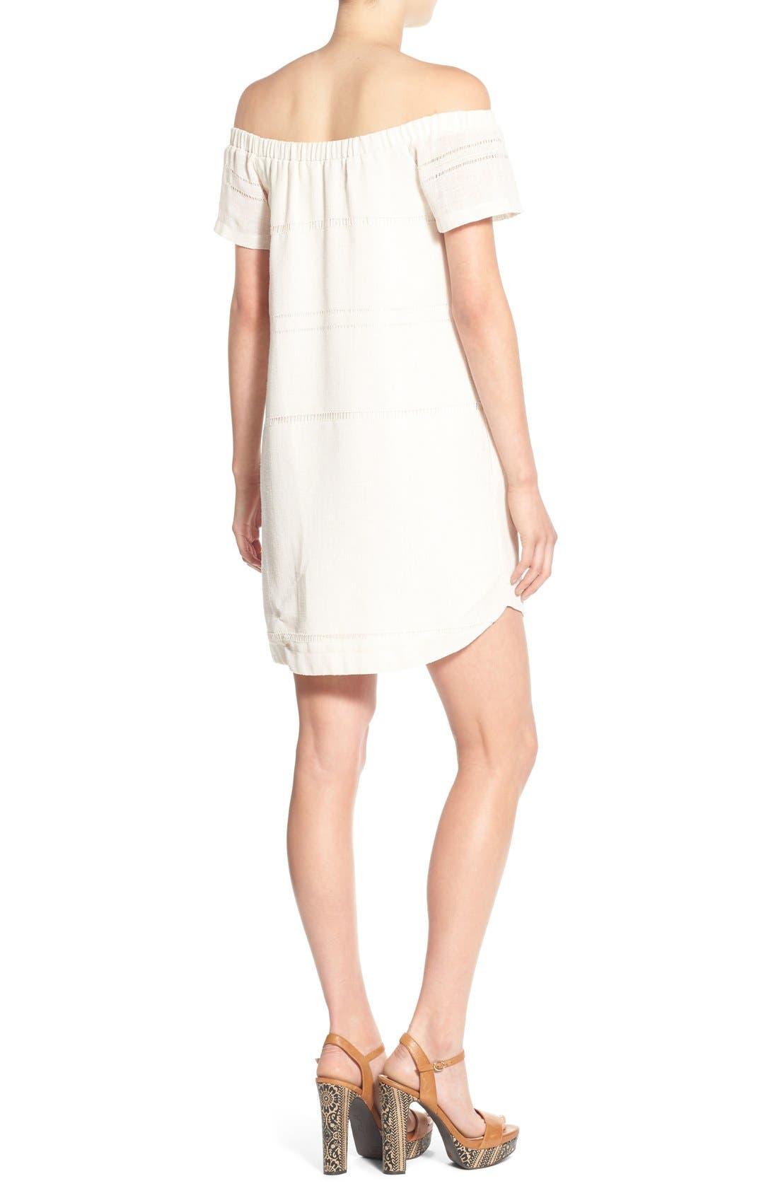 Alternate Image 2  - ASTR Off the Shoulder Shift Dress