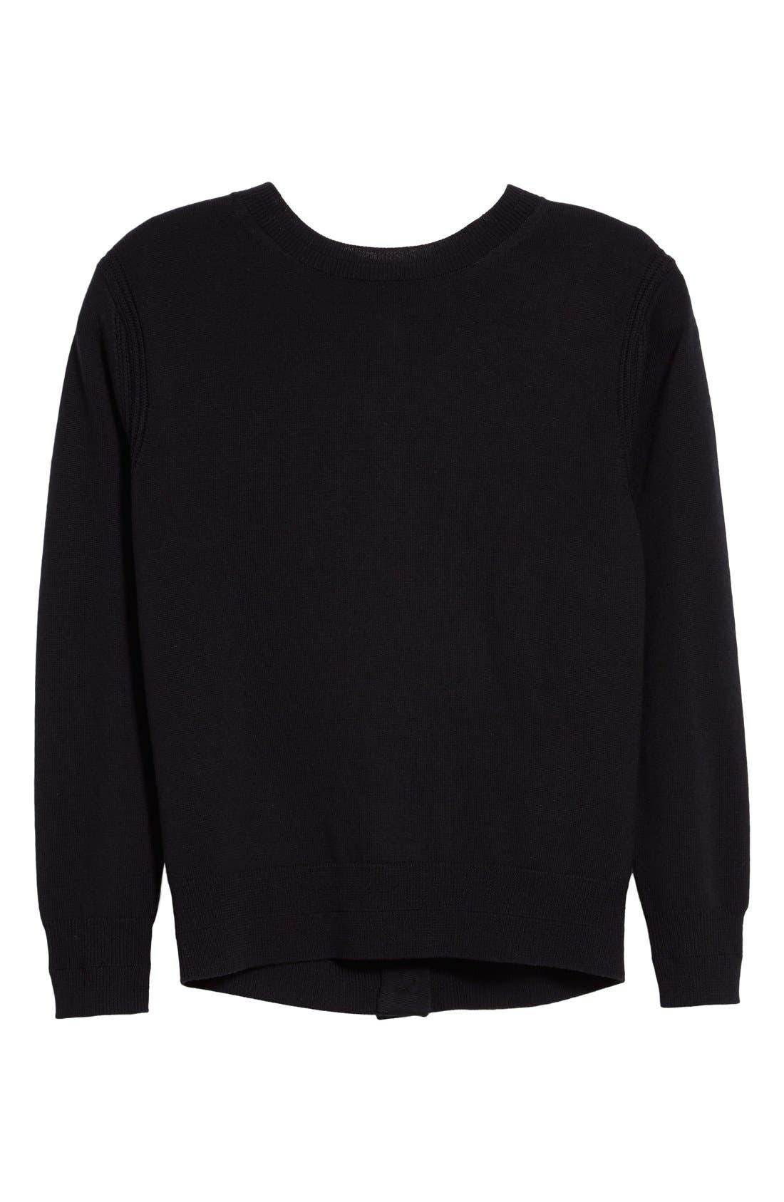 Alternate Image 4  - MARC JACOBS Back Button Detail Merino Wool Sweater