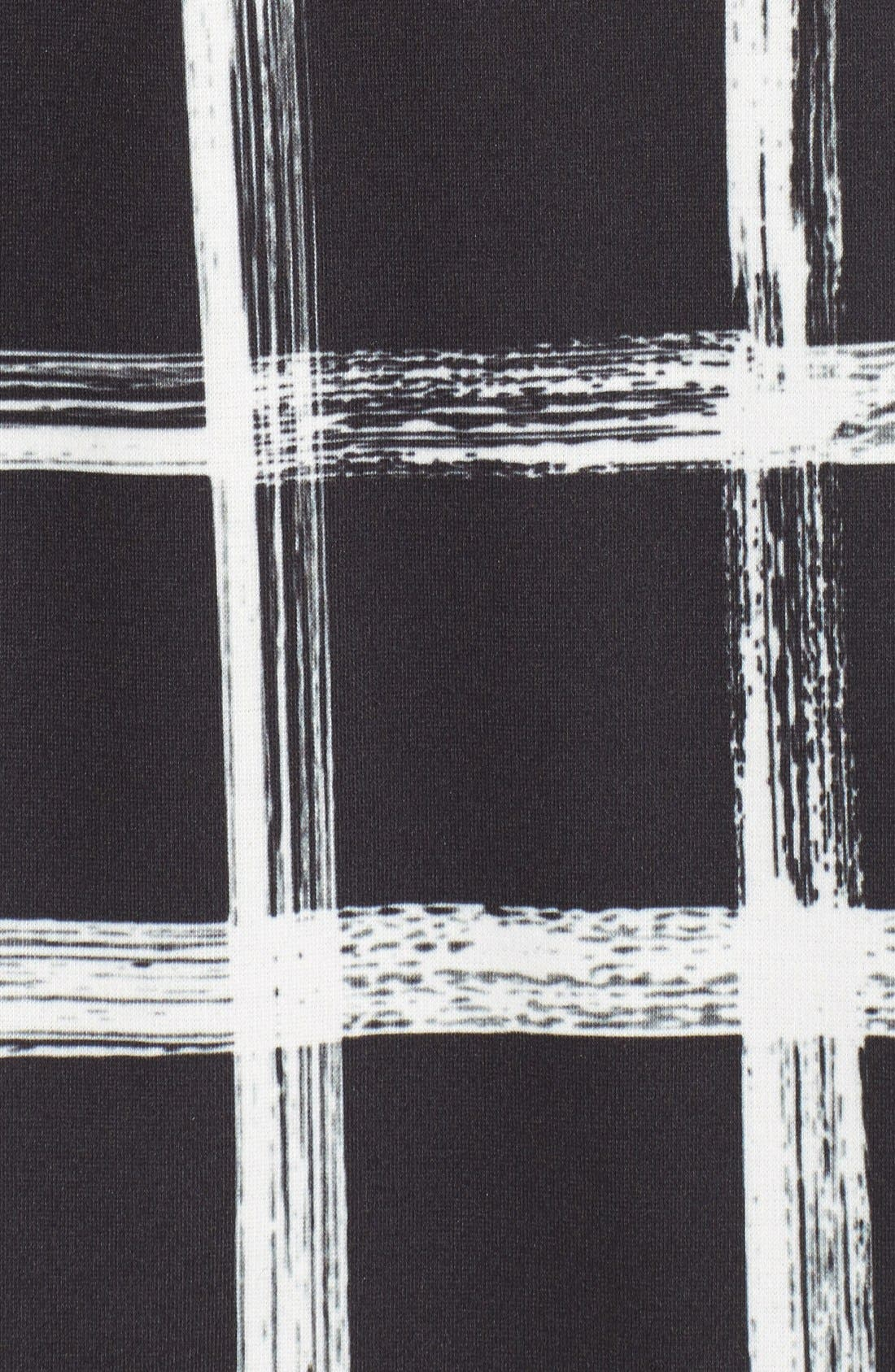 Alternate Image 6  - Eliza J Windowpane Print Ponte Shift Dress (Regular & Petite)