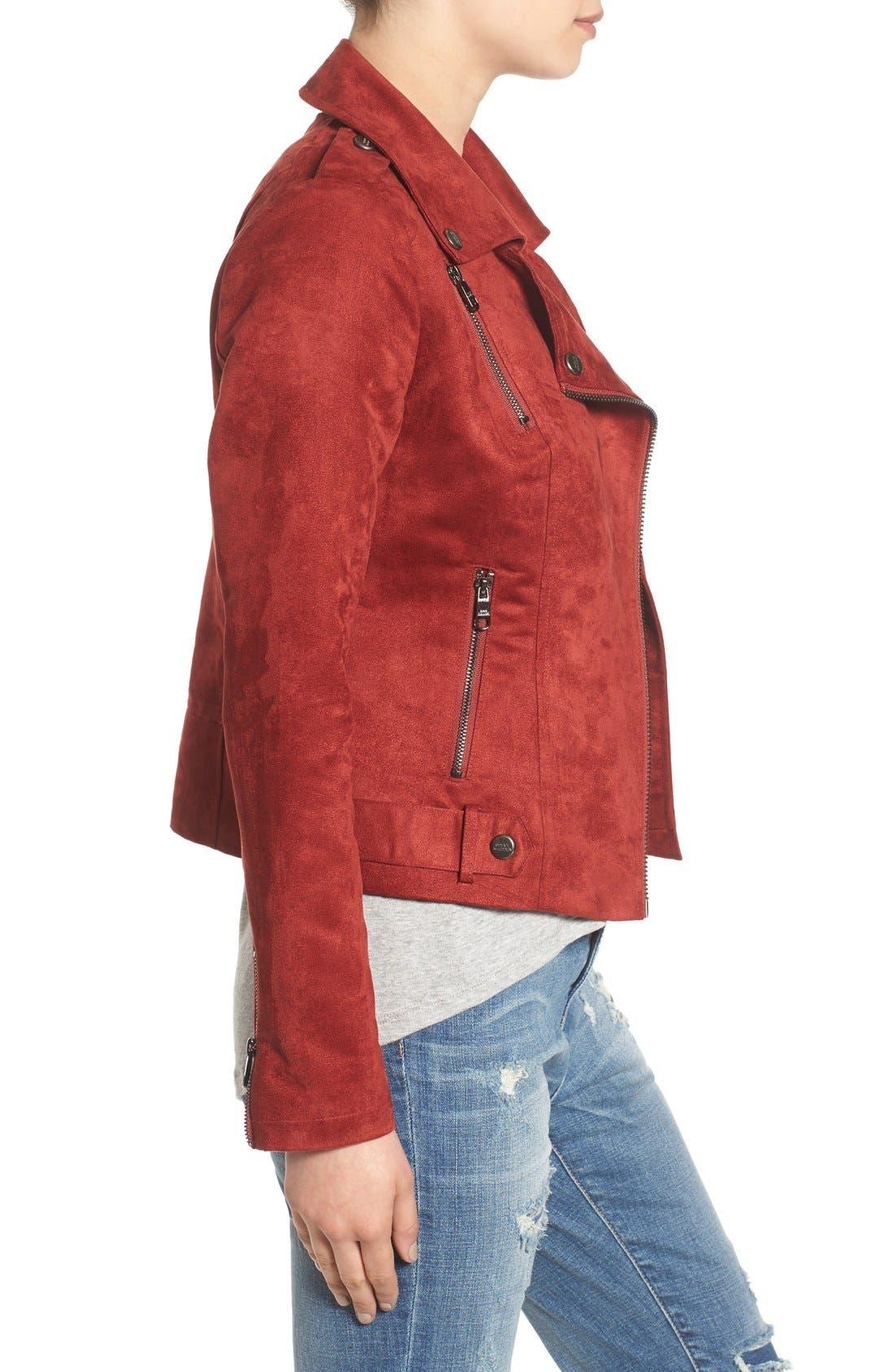 Alternate Image 3  - Steve Madden Faux Suede Moto Jacket