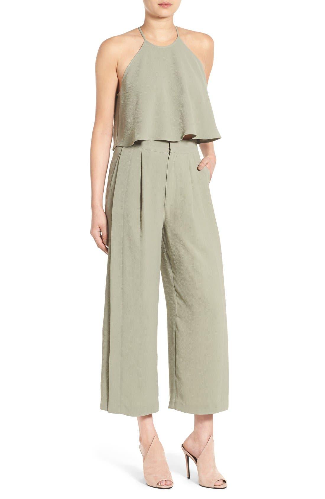Alternate Image 2  - KENDALL + KYLIE High Waist Wide Leg Crop Pants