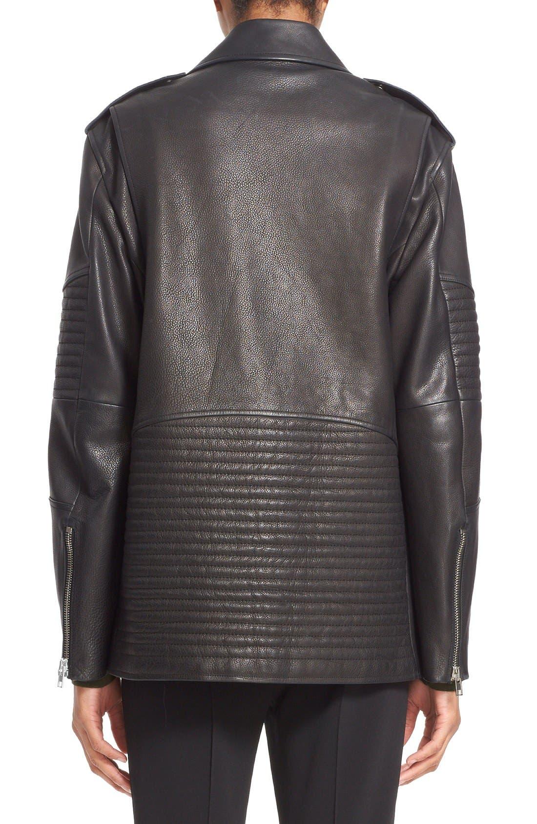 Alternate Image 2  - Alexander Wang Leather Moto Jacket