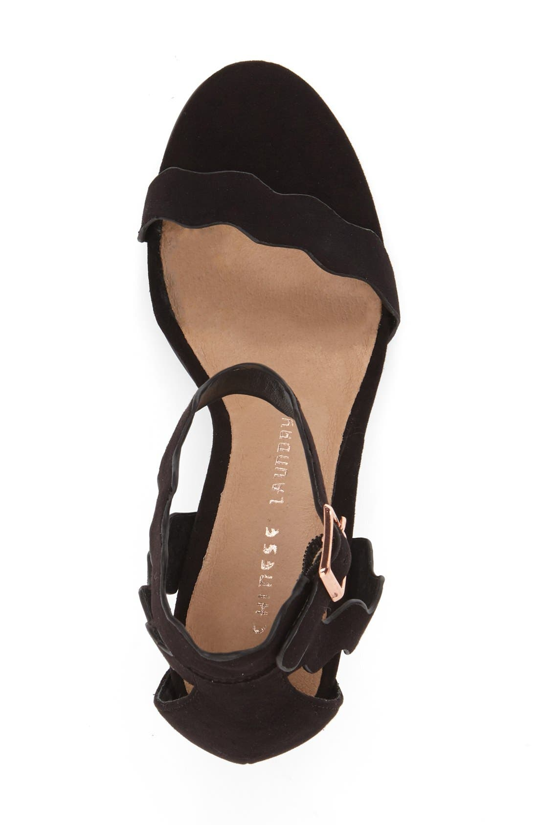 Alternate Image 3  - Chinese Laundry 'Rubie' Scalloped Ankle Strap Sandal (Women)
