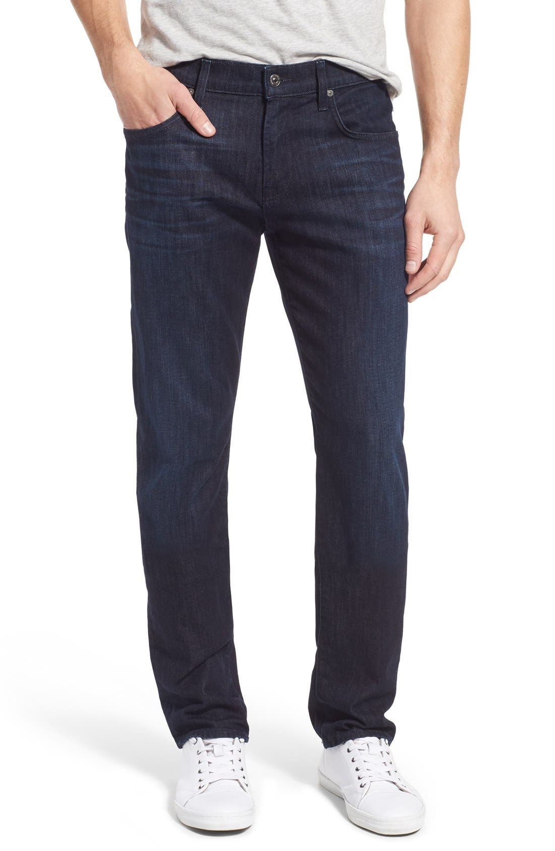 Alternate Image 1 Selected - 7 For All Mankind® 'Straight - Luxe Performance' Slim Straight Leg Jeans (Rebellion)