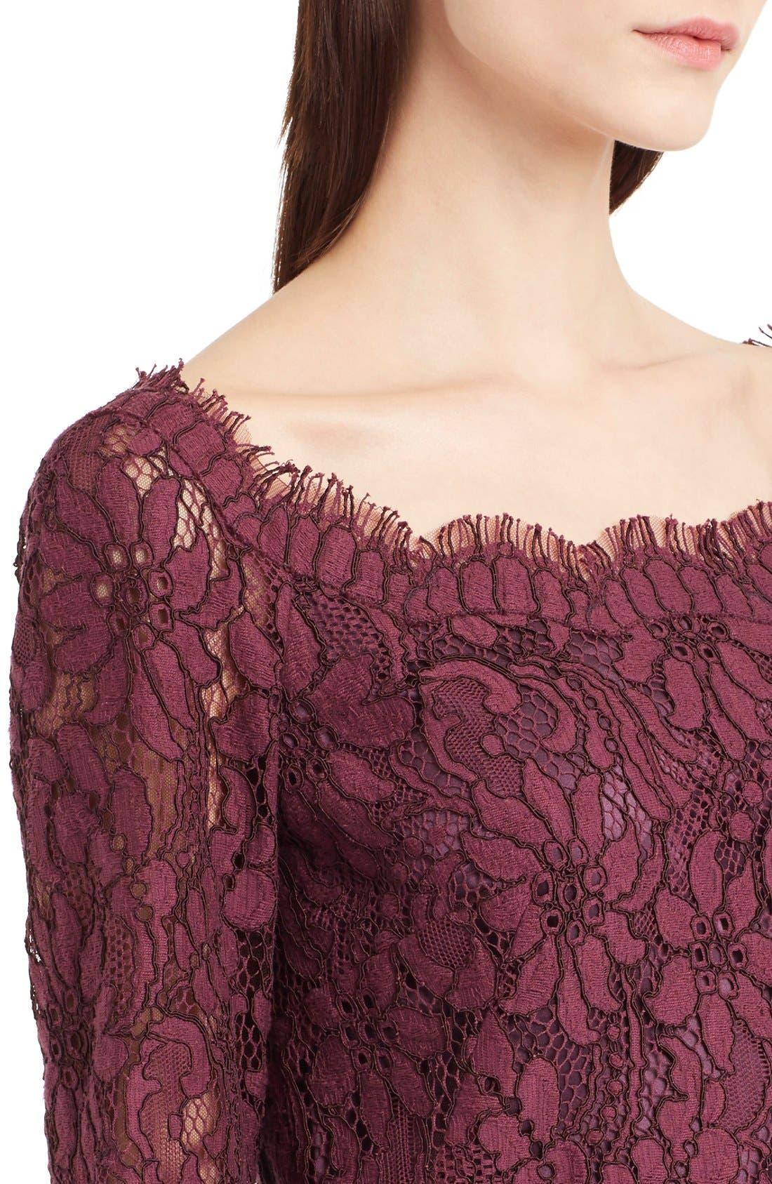 Alternate Image 5  - Dolce&Gabbana Scoop Neck Lace Shift Dress