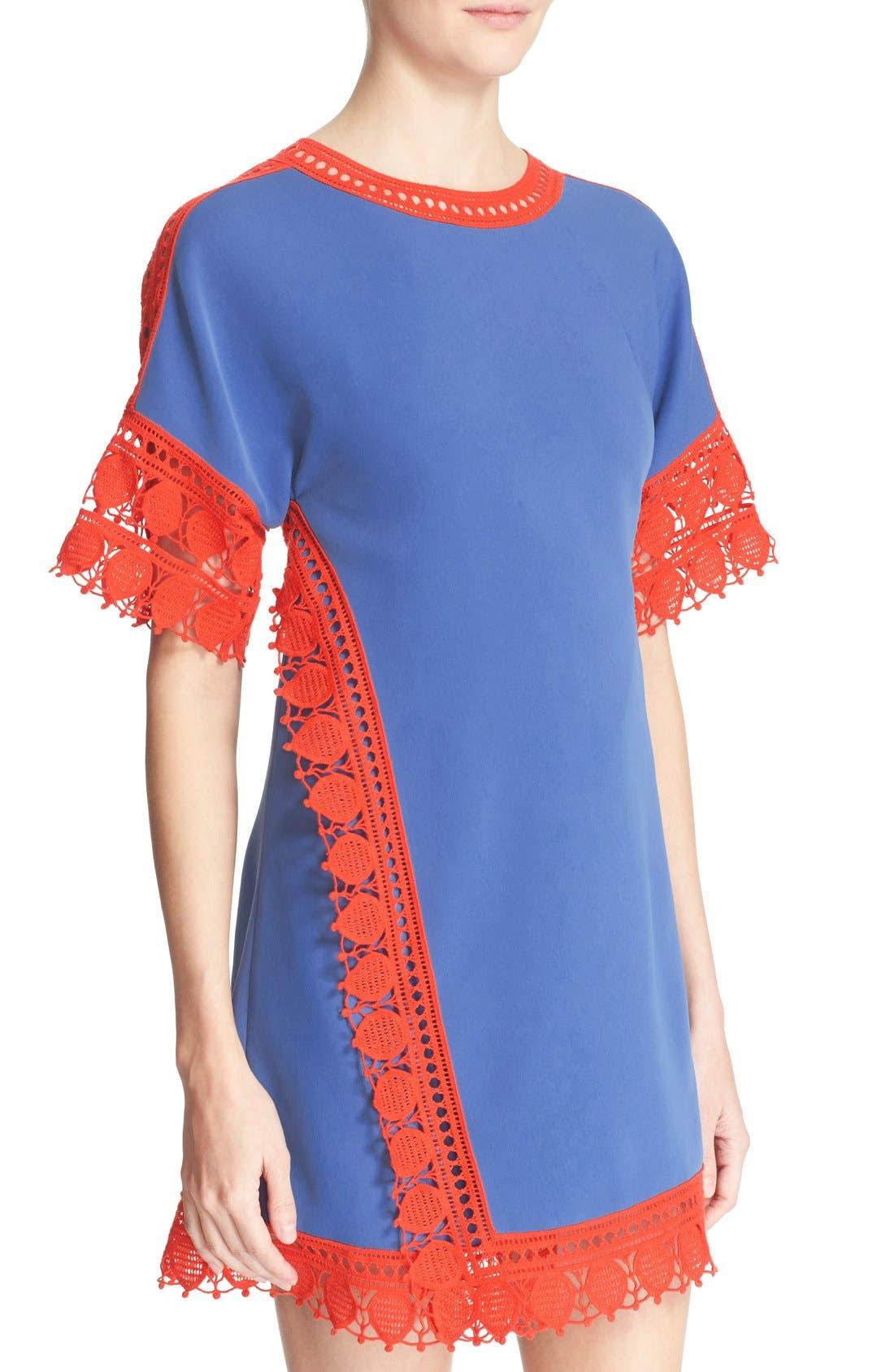 Alternate Image 4  - Tory Burch 'Marissa' Lace Trim Dress