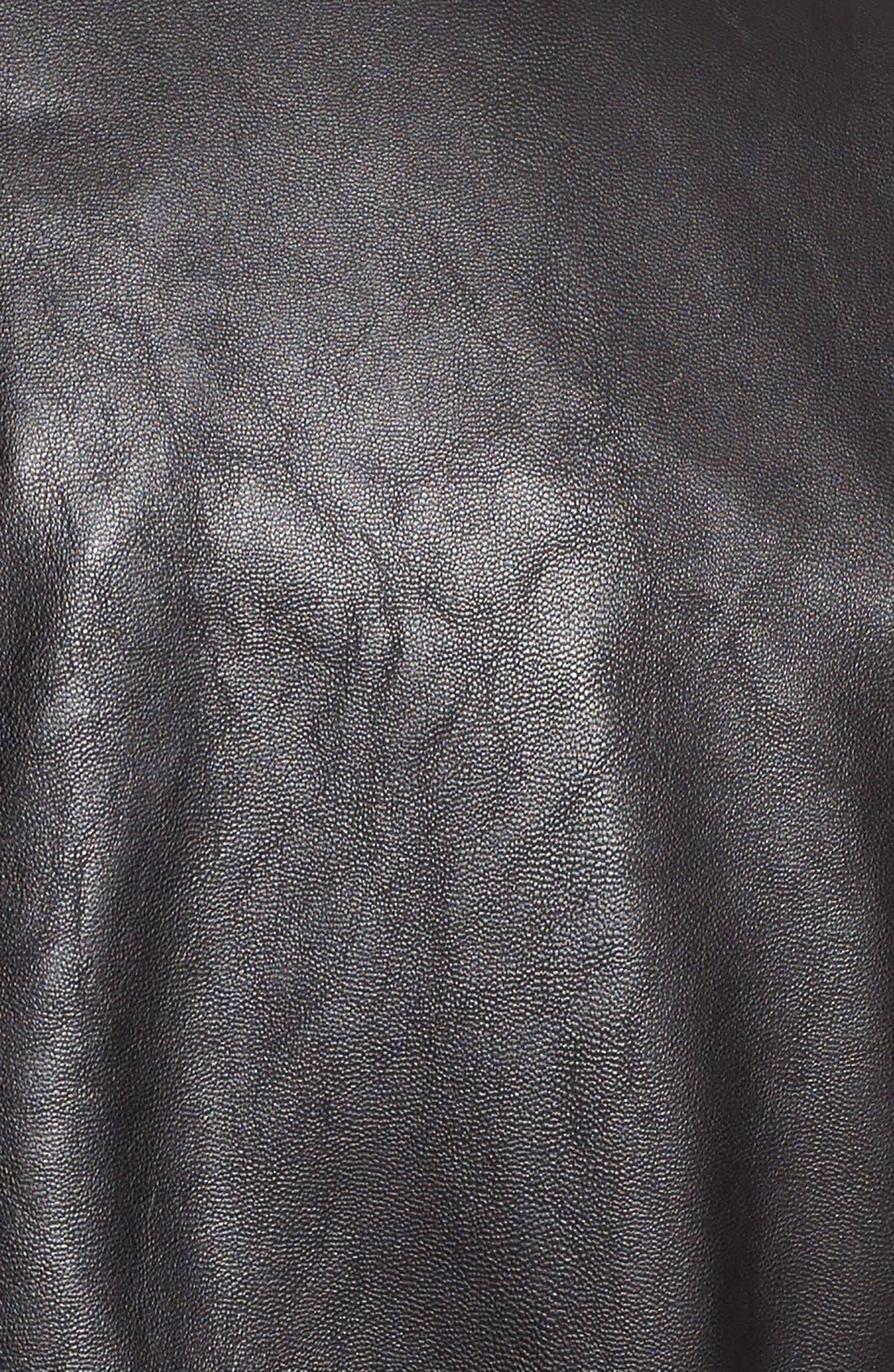 Alternate Image 5  - Levi's® Drape Front Faux Leather Jacket
