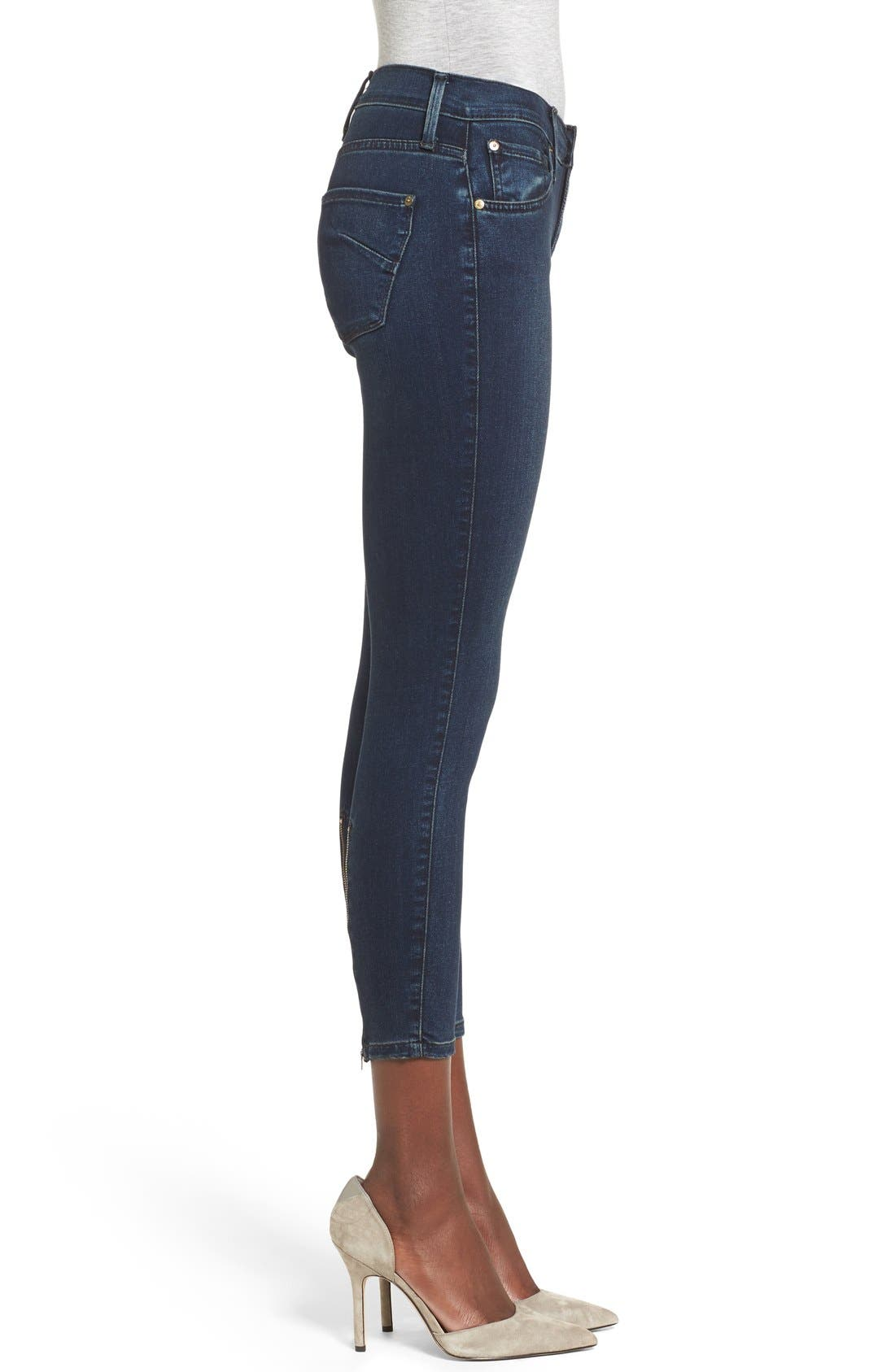 Alternate Image 3  - James Jeans Ankle Zip Skinny Jeans