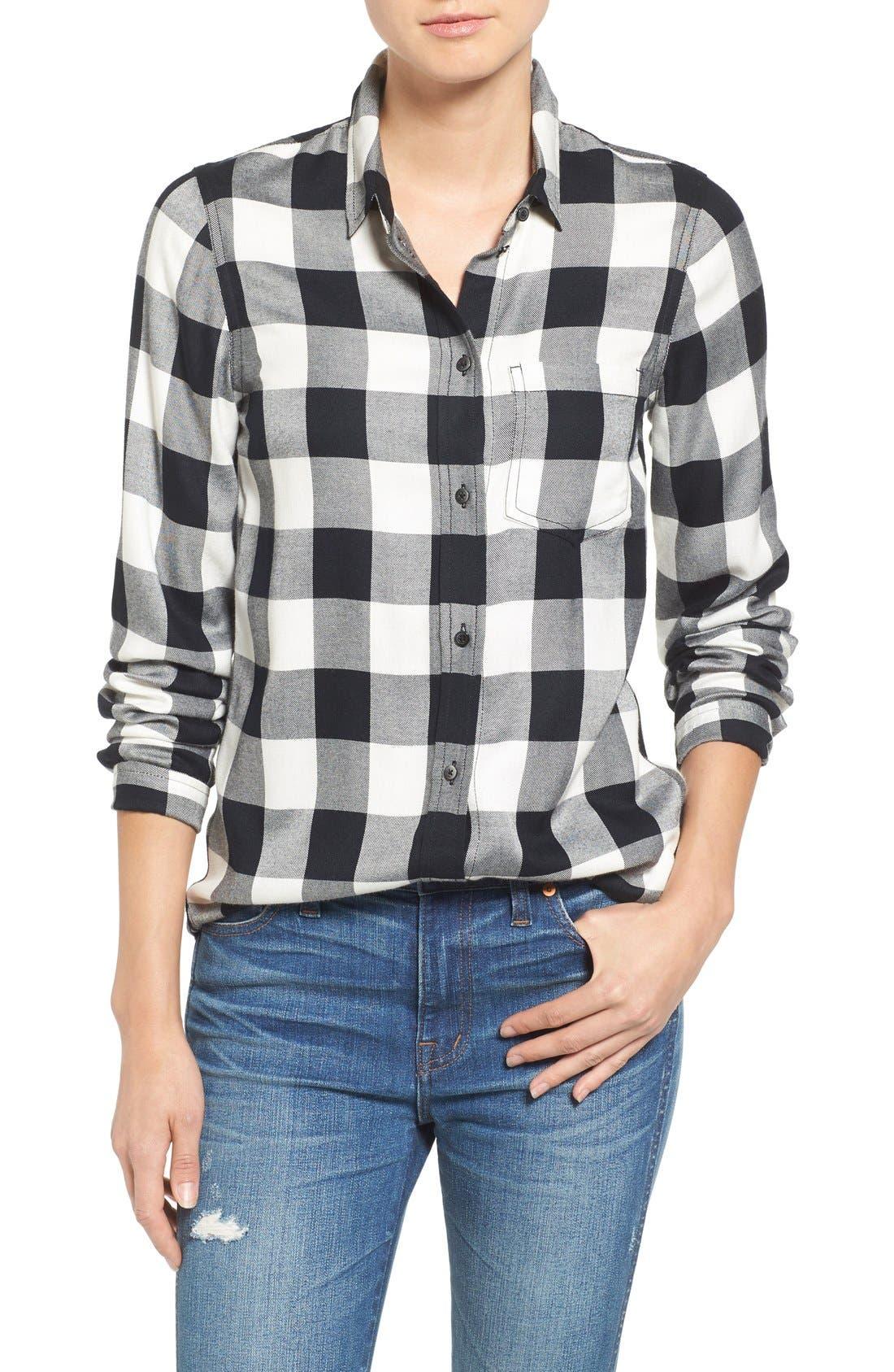 Main Image - Madewell 'Ex Boyfriend' Buffalo Check Slim Shirt