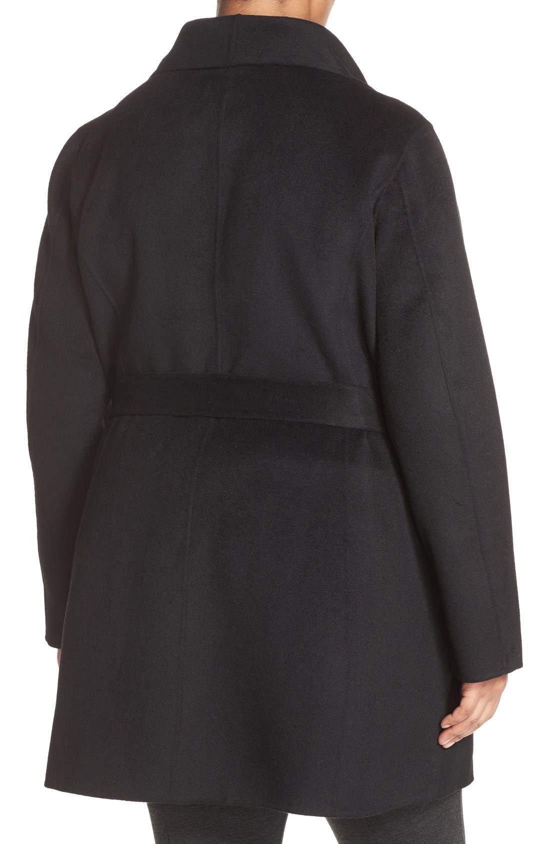 Alternate Image 3  - Tahari 'Ella' Wrap Coat (Plus Size)