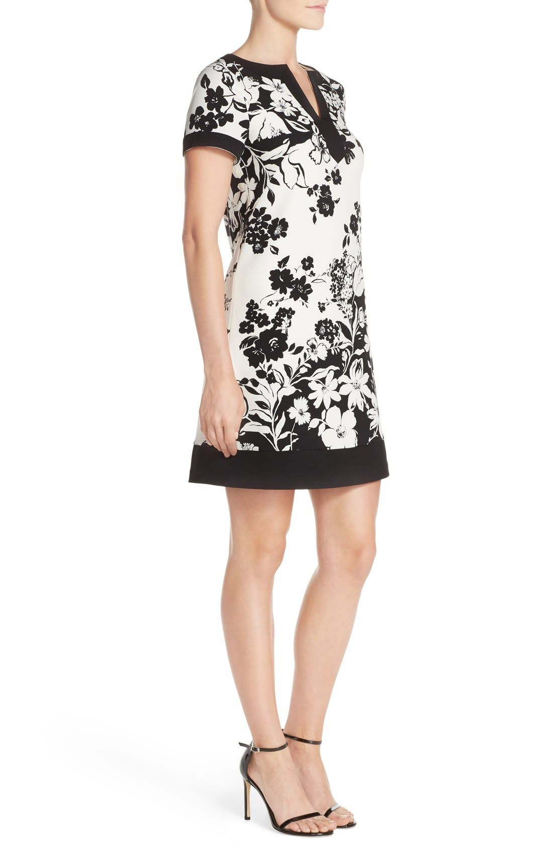 Alternate Image 3  - Adrianna Papell Floral Print Shift Dress